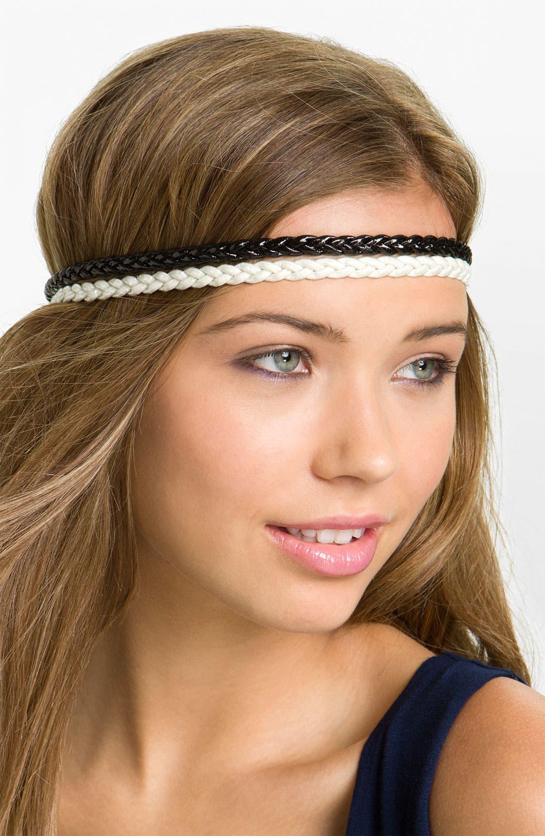 Alternate Image 1 Selected - Carole Braided Shimmer Headband Set (Set of Two)