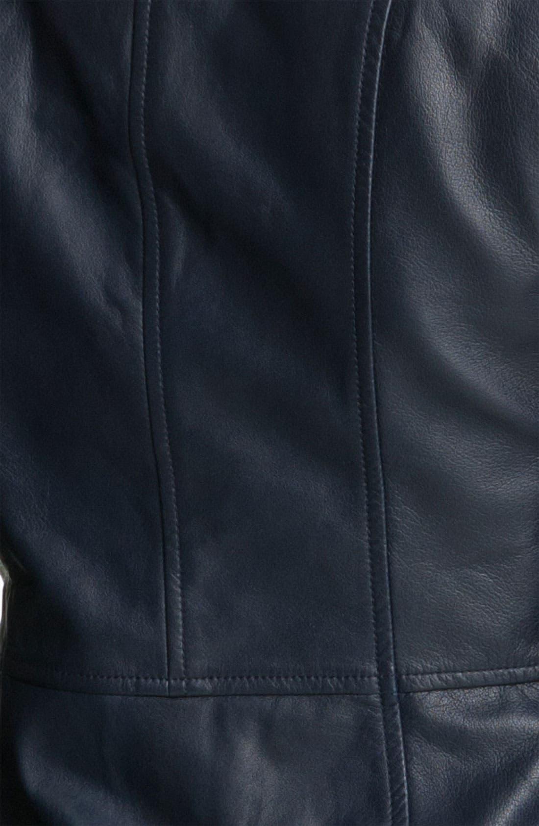 Alternate Image 3  - Tory Burch Crop Leather Jacket