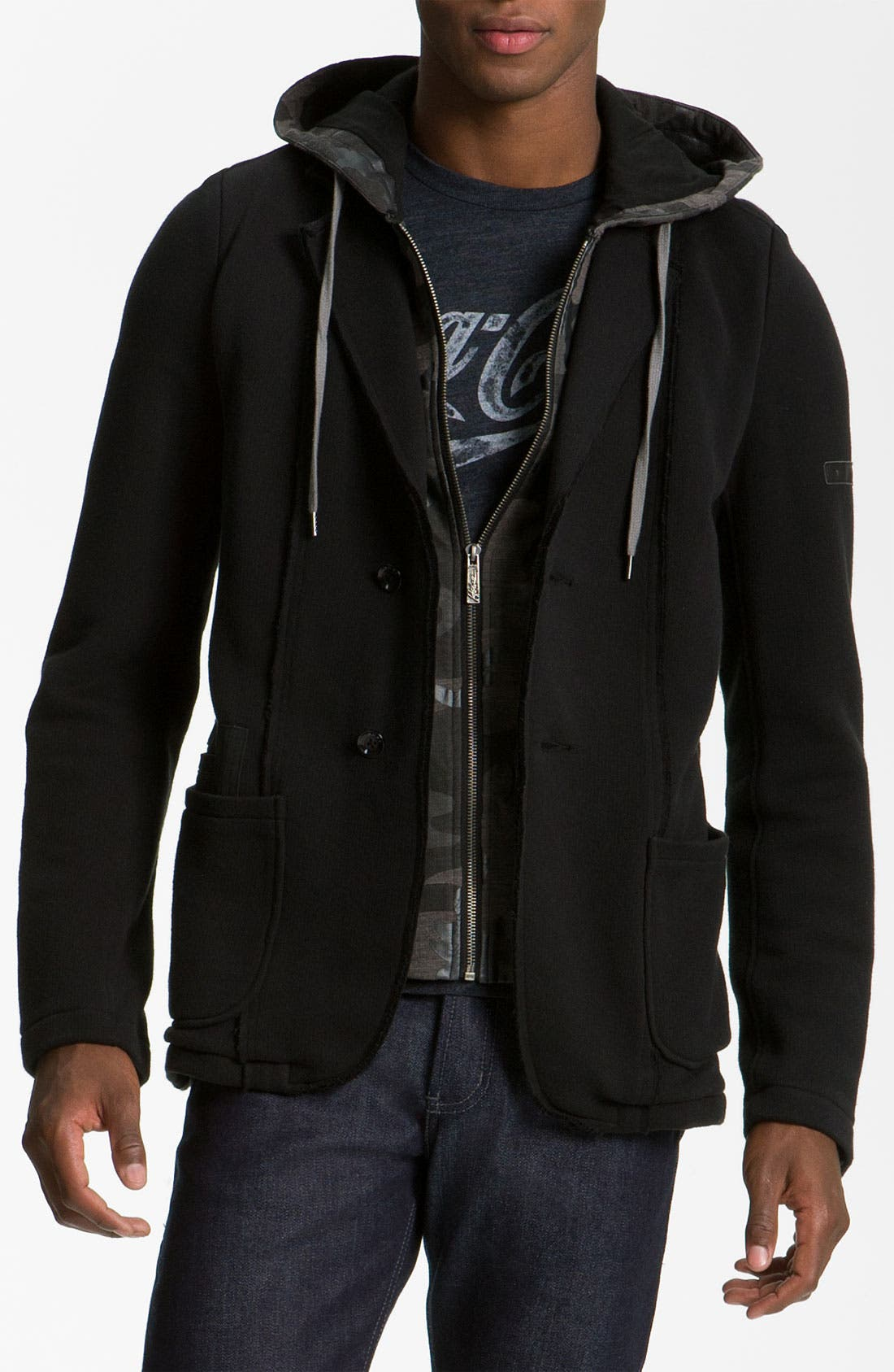 Alternate Image 1 Selected - Howe 'Everything Changes' Hooded Blazer