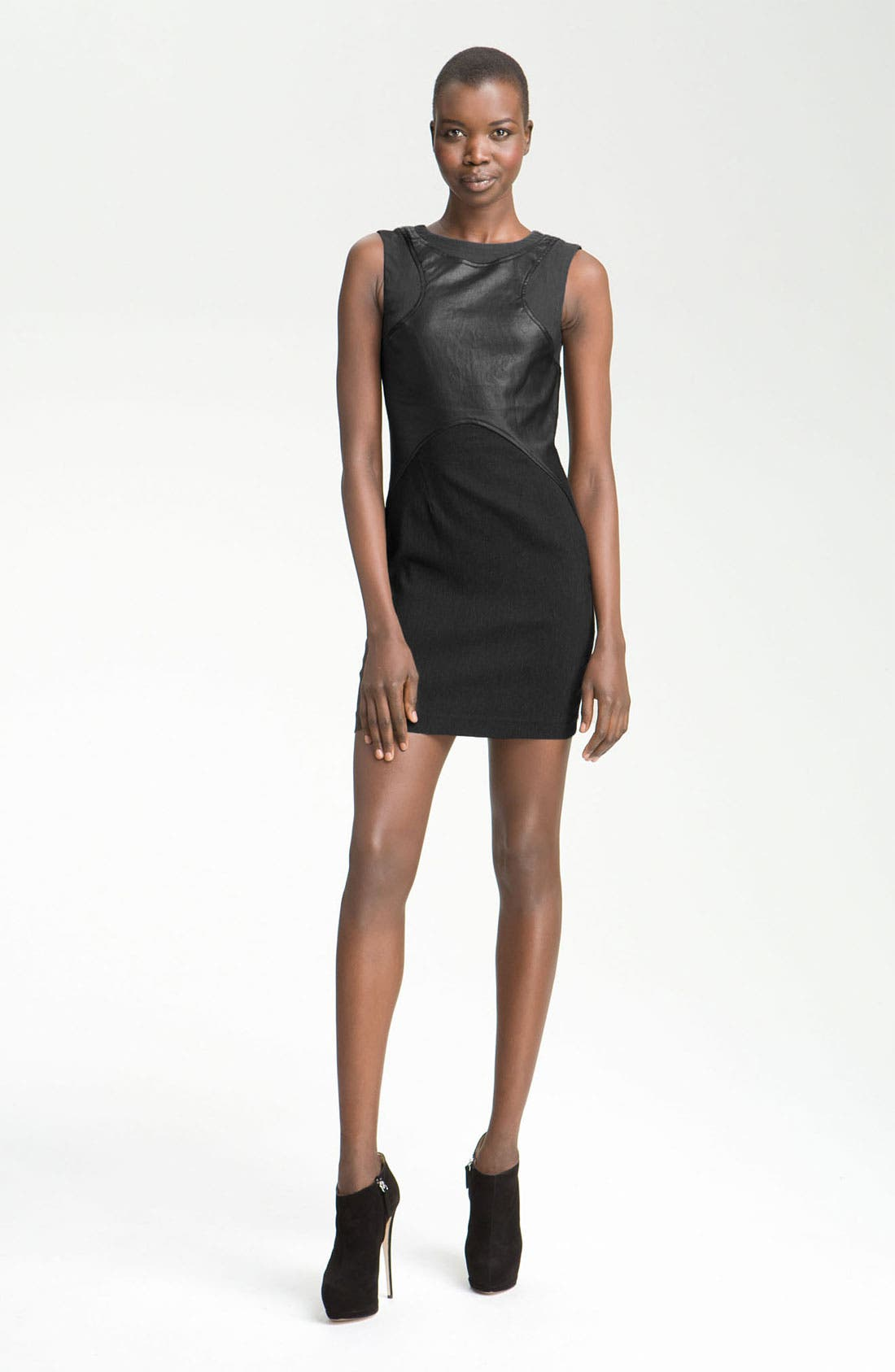 Alternate Image 1 Selected - Cut25 Stretch Faille Panel Dress