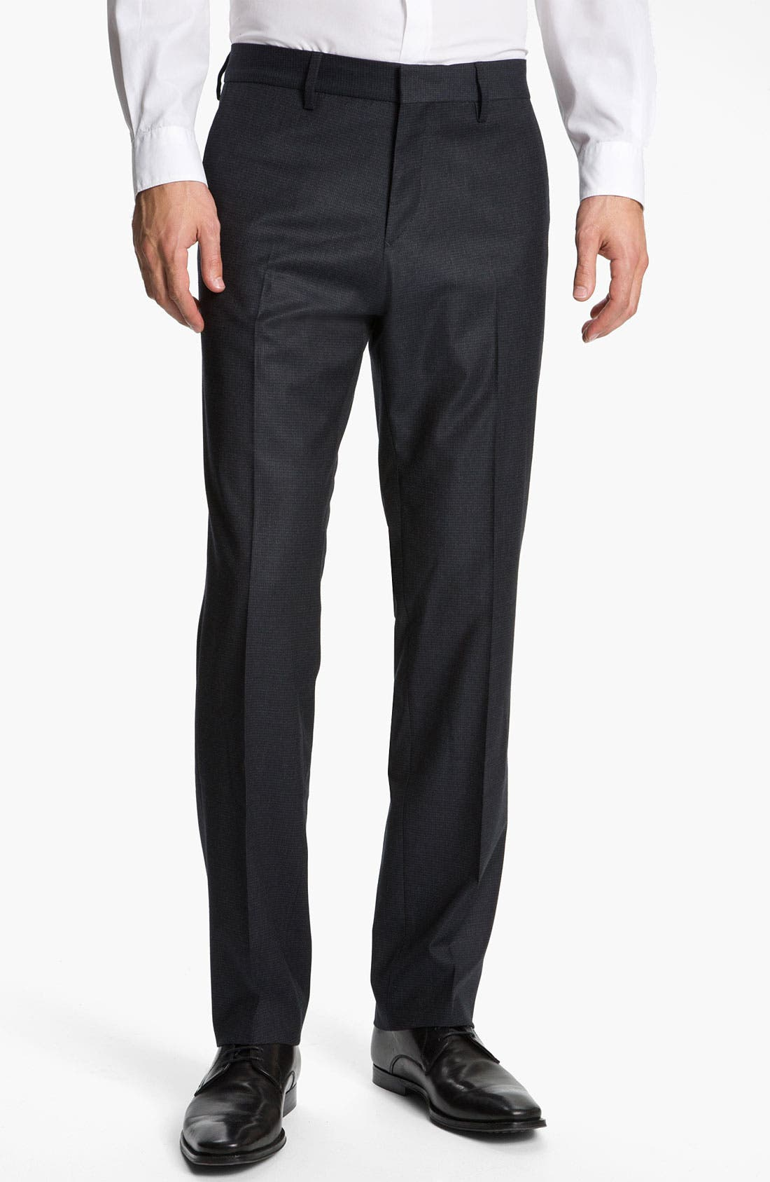 Alternate Image 1 Selected - BOSS Black 'Crigan' Flat Front Trousers