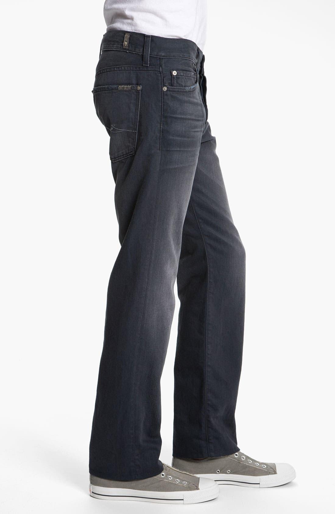 Alternate Image 3  - 7 For All Mankind® Standard Straight Leg Jeans (Grey Harbor)