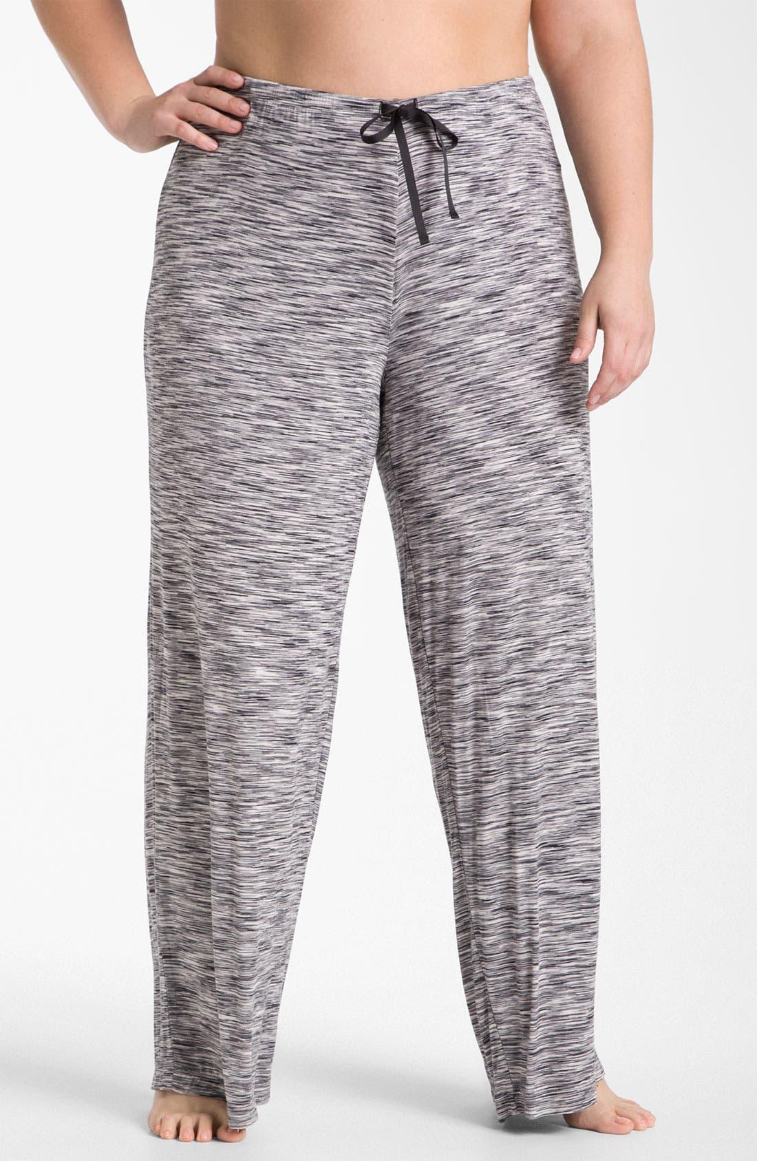 Main Image - Hue Space Dye Pajama Pants (Plus)