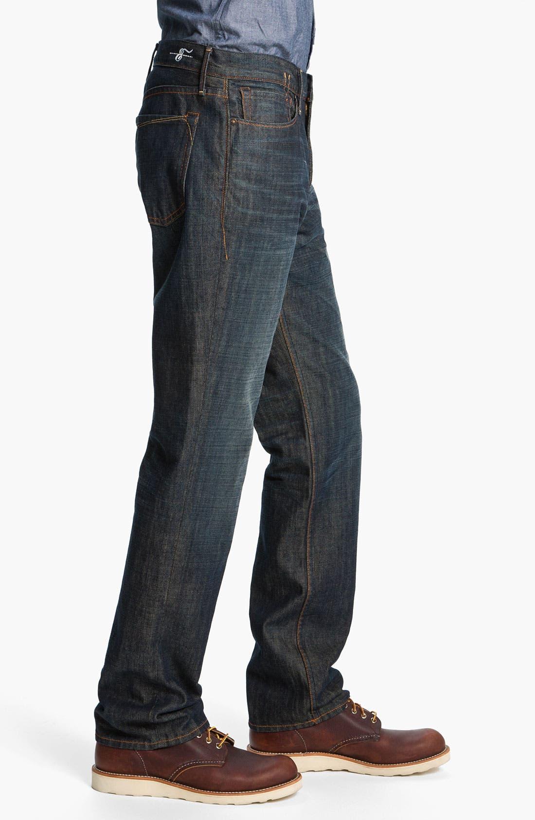 Alternate Image 3  - Earnest Sewn 'Dexter' Relaxed Straight Leg Jeans (Maz Dark)