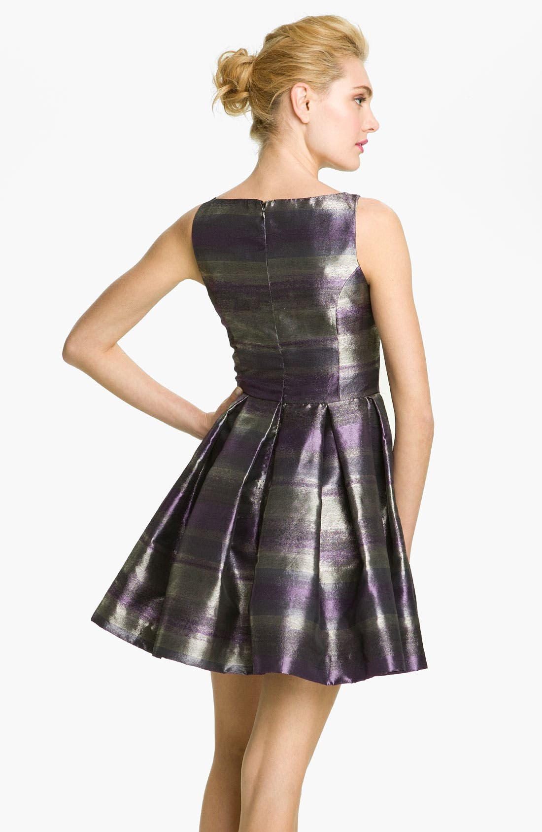 Alternate Image 2  - BB Dakota 'Jensine' Metallic Taffeta Fit & Flare Dress
