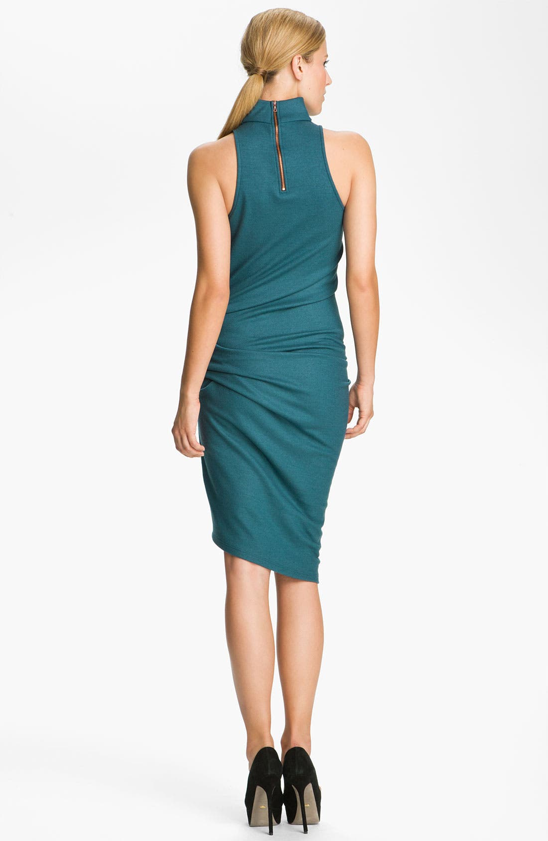 Alternate Image 2  - Halston Heritage Boiled Wool Jersey Dress