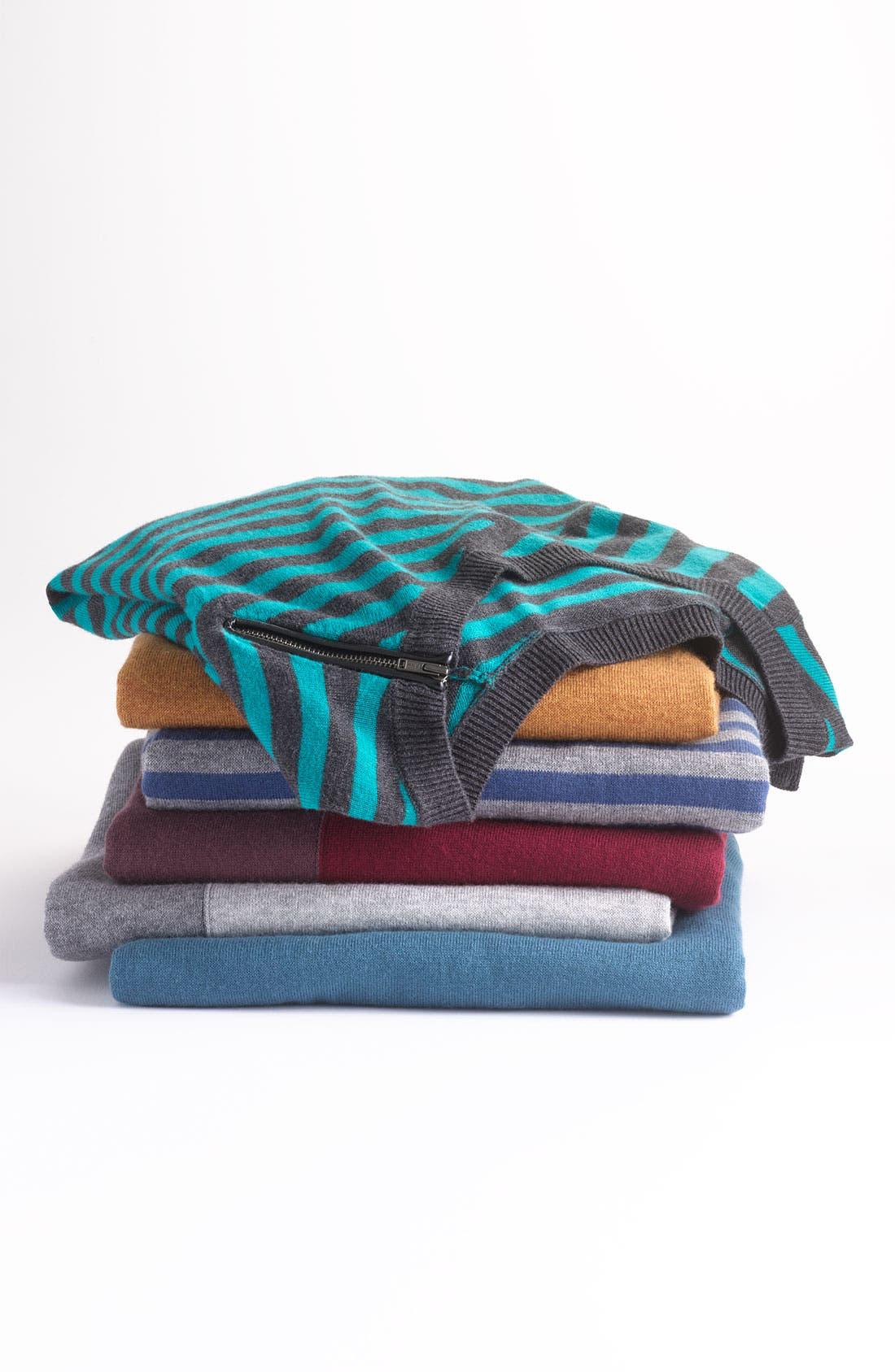 Alternate Image 3  - Halogen® Zip Shoulder Sweater