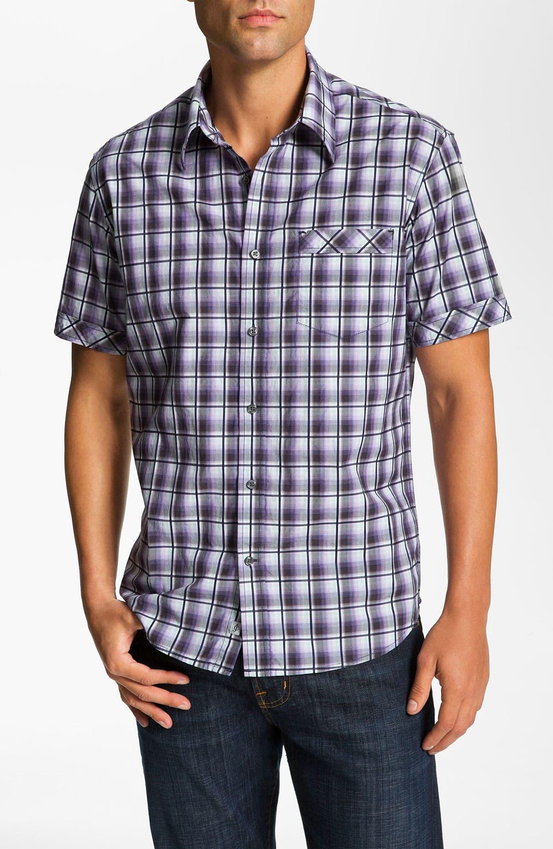 Main Image - James Campbell 'Pecos' Plaid Sport Shirt