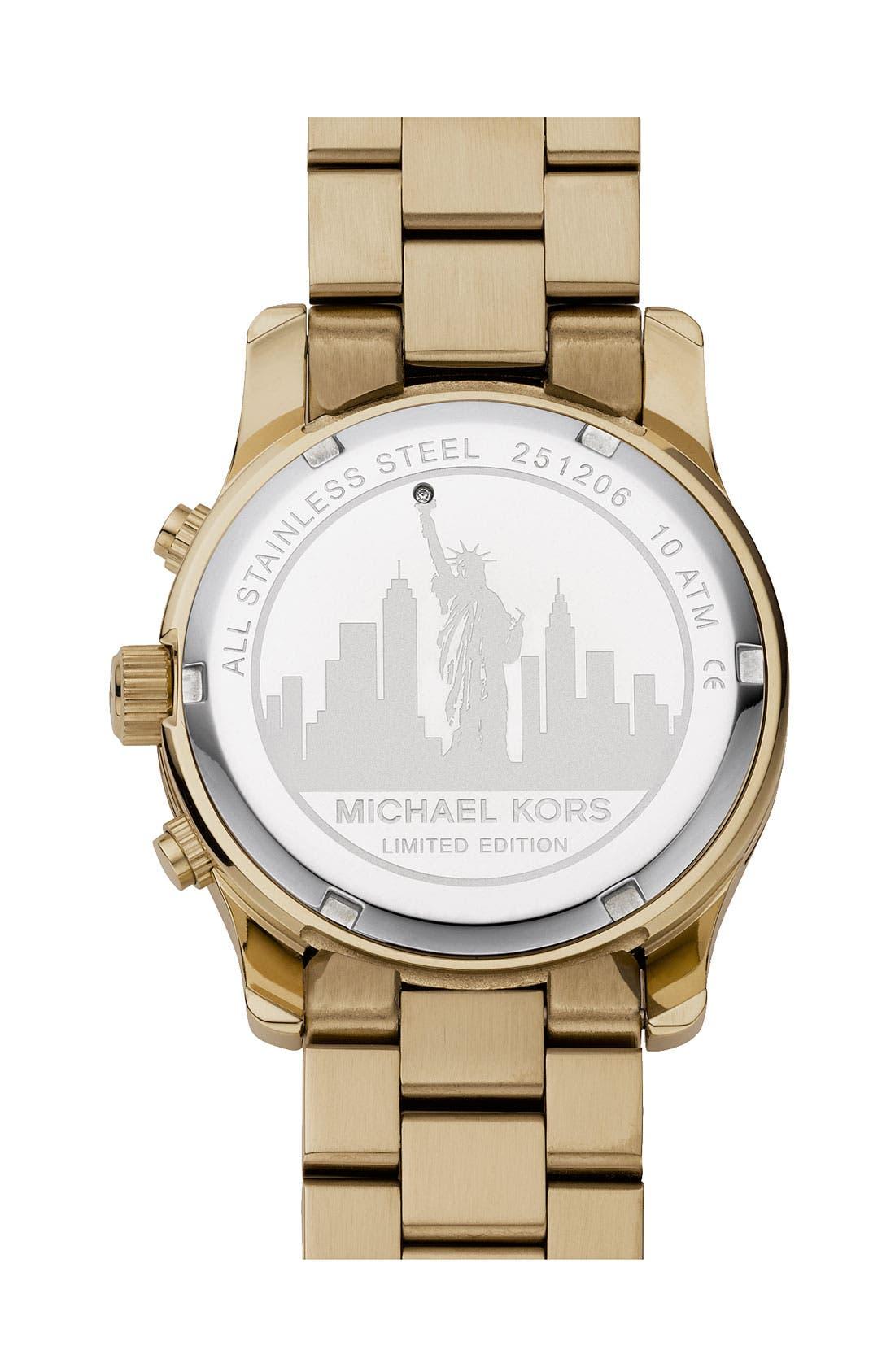 Alternate Image 2  - Michael Kors 'Runway - New York' Chronograph Bracelet Watch, 38mm (Limited Edition)
