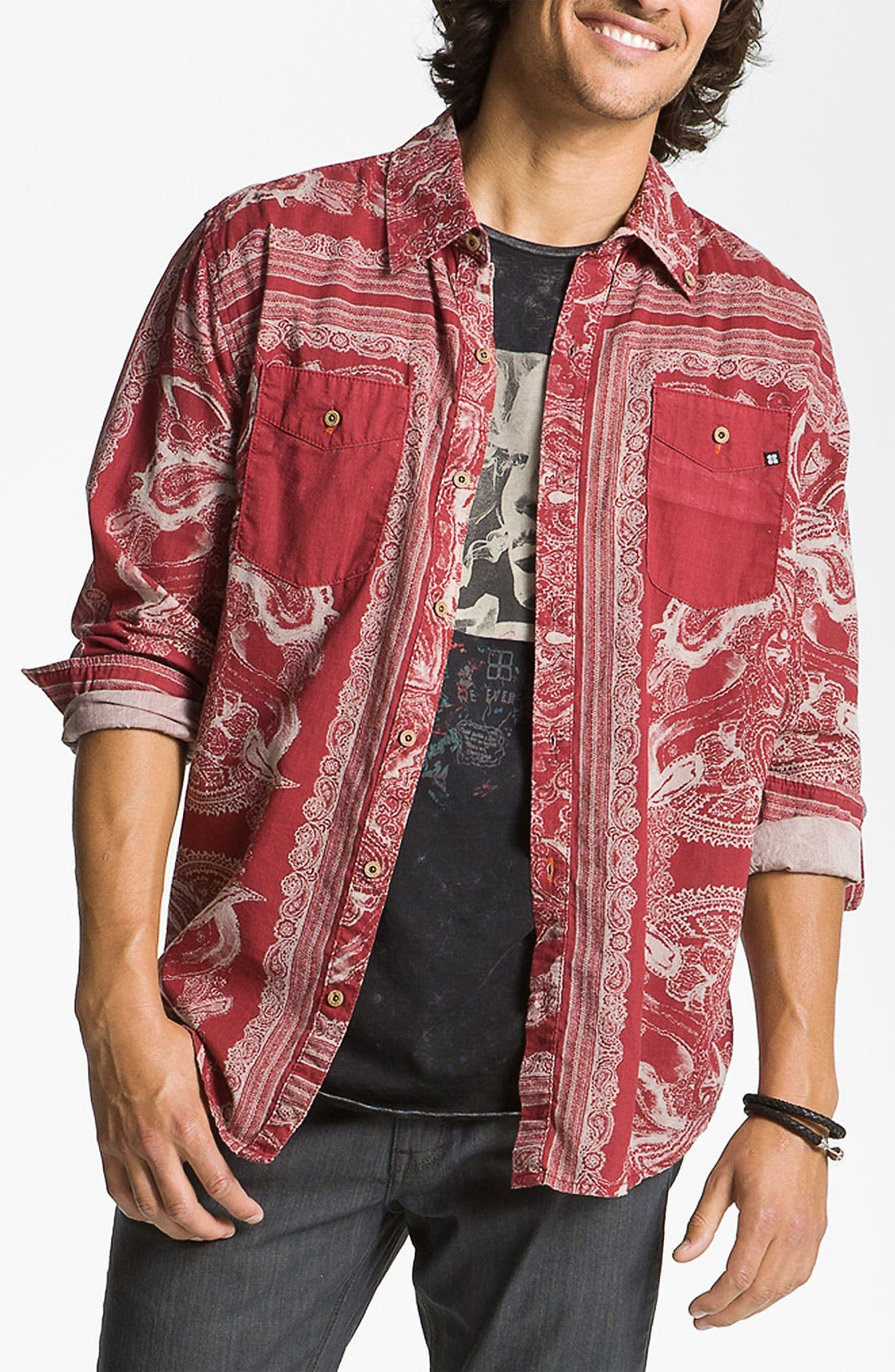 Alternate Image 1 Selected - Insight 'Del Monte' Paisley Print Shirt