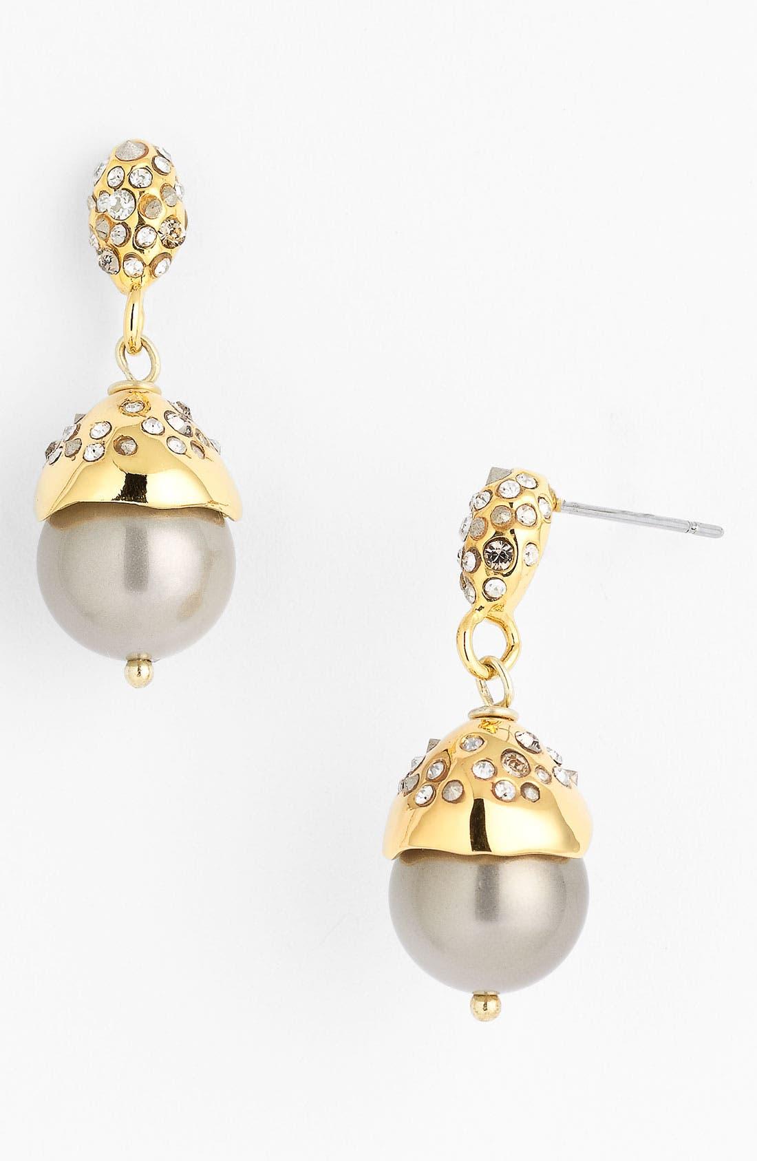 Alternate Image 1 Selected - Alexis Bittar Crystal Encrusted Shell Pearl Drop Earrings