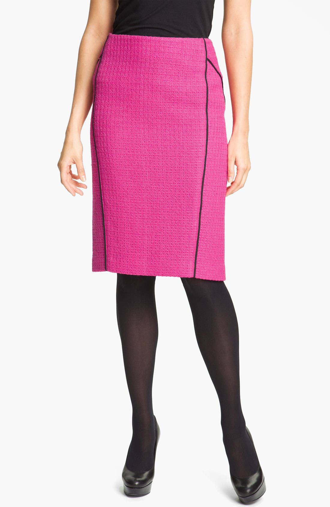 'Lilith Abbey Tweed' Skirt,                             Main thumbnail 1, color,                             Cerise