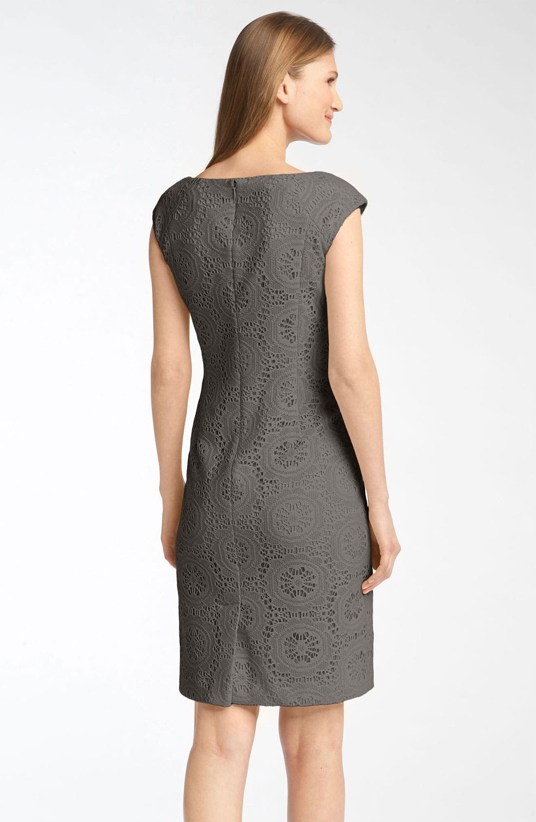 Alternate Image 2  - Adrianna Papell Crochet Sheath Dress