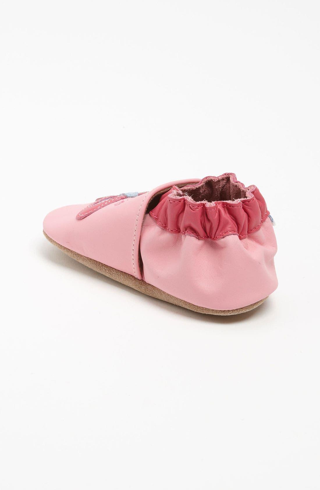 Alternate Image 2  - Robeez® 'Butterfly' Slip-On (Baby & Walker)