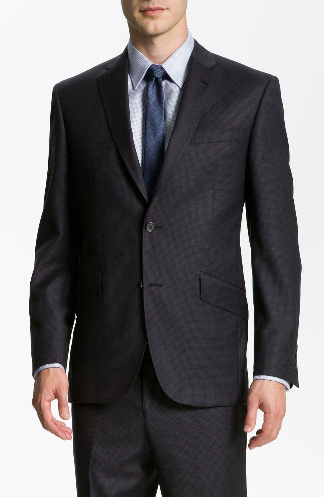 Alternate Image 1 Selected - Ted Baker London 'Jones' Trim Fit Stripe Suit