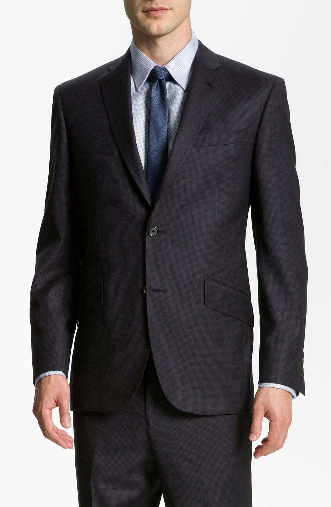 Main Image - Ted Baker London 'Jones' Trim Fit Stripe Suit