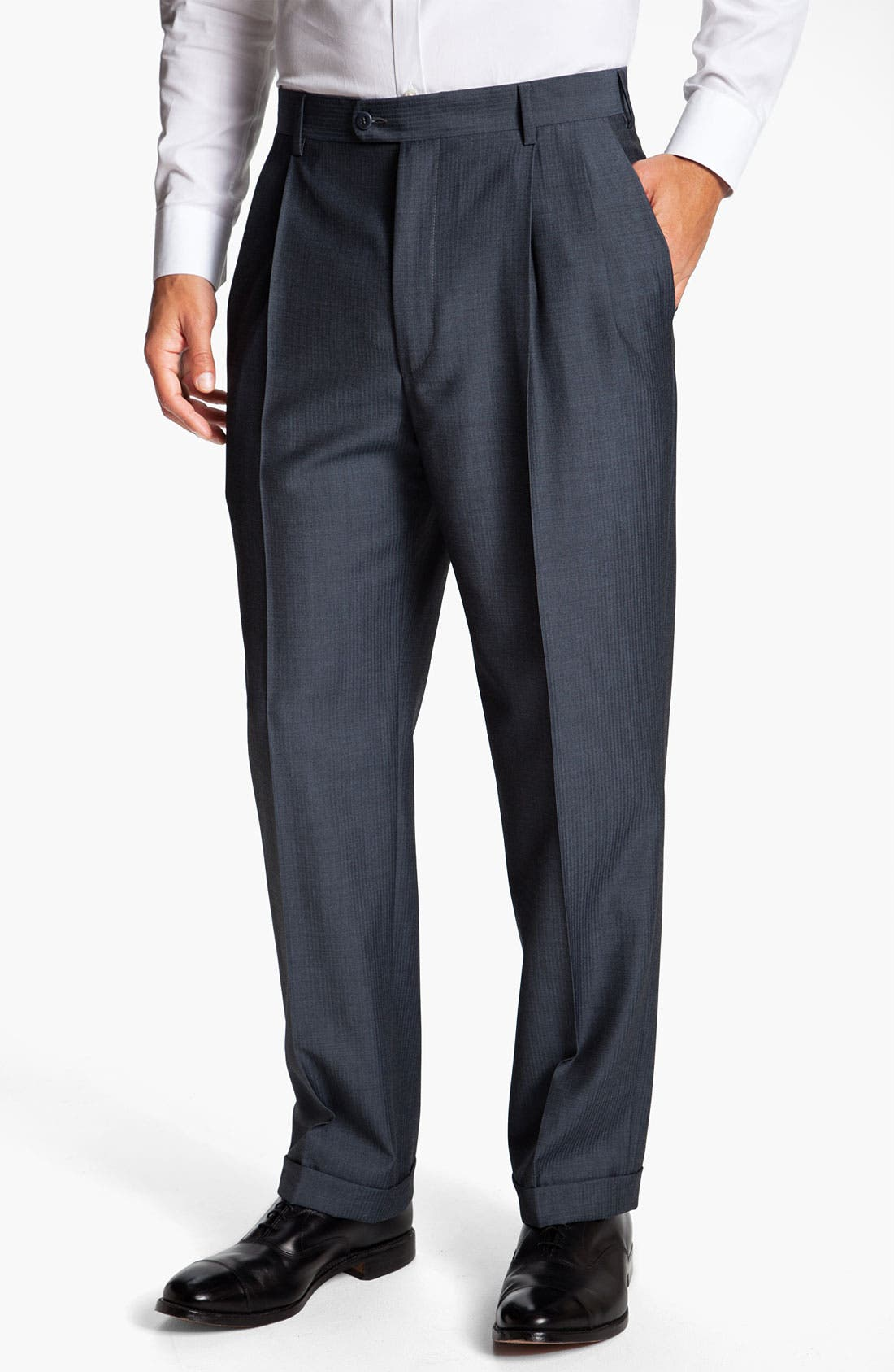 Main Image - Zanella 'Bennett' Pleated Trousers