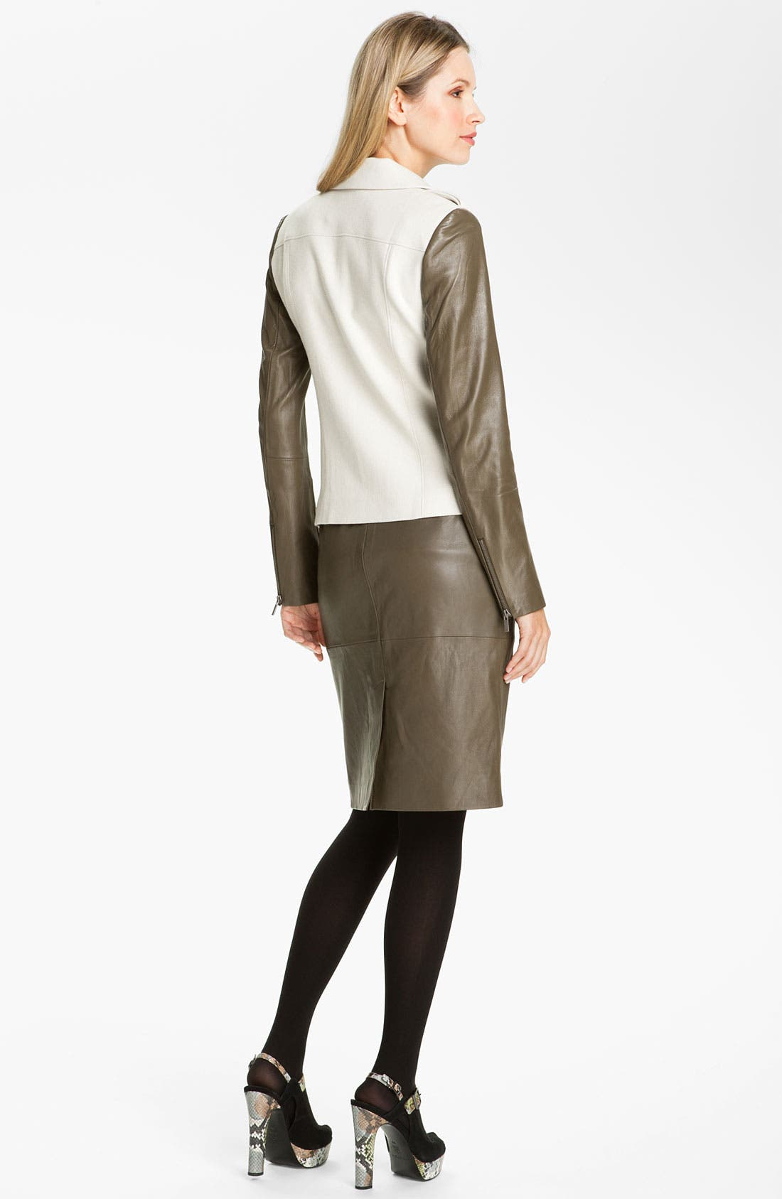 Alternate Image 5  - Classiques Entier® 'Brenna' Leather Pencil Skirt
