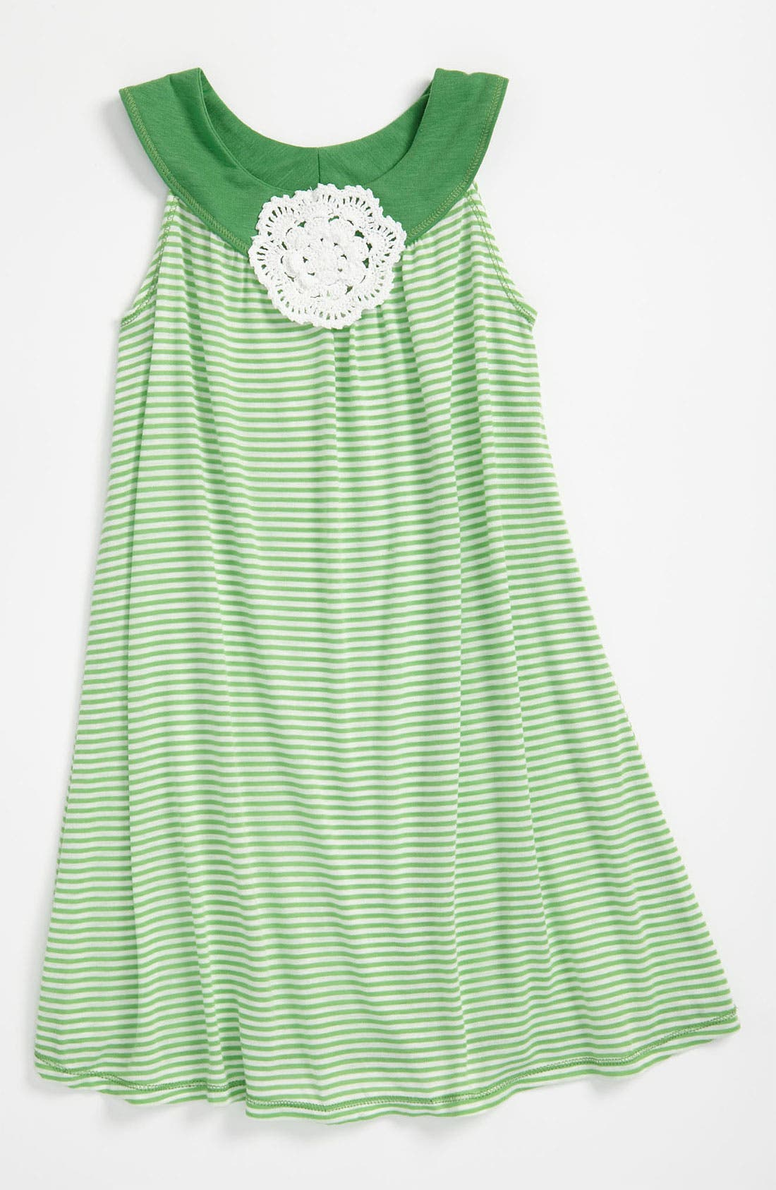 Alternate Image 1 Selected - Pink Vanilla Stripe Dress (Little Girls)