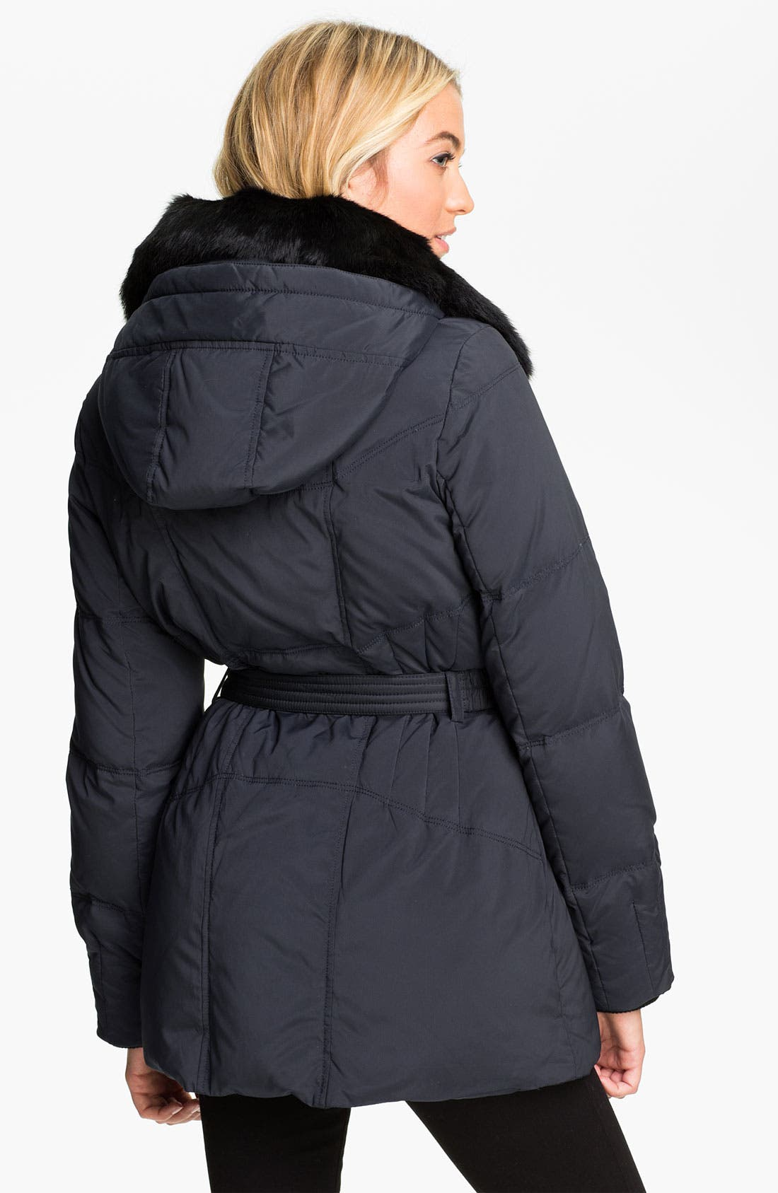Alternate Image 2  - Vince Camuto Quilted Parka with Genuine Rabbit Fur Collar
