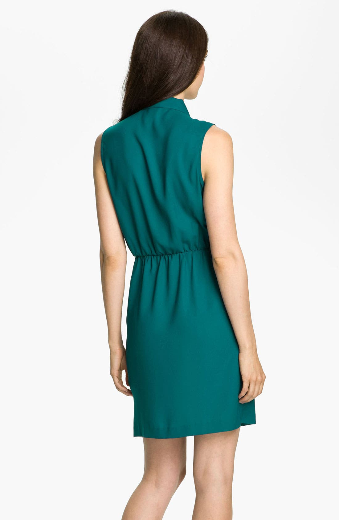 Alternate Image 2  - Taylor Dresses Pleated Tie Neck Shirtdress