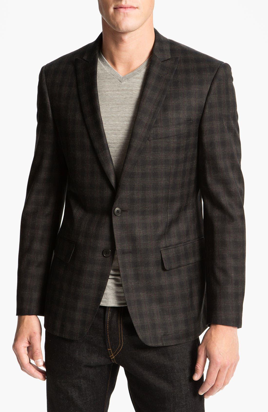 Alternate Image 1 Selected - John Varvatos Star USA Windowpane Plaid Sportcoat