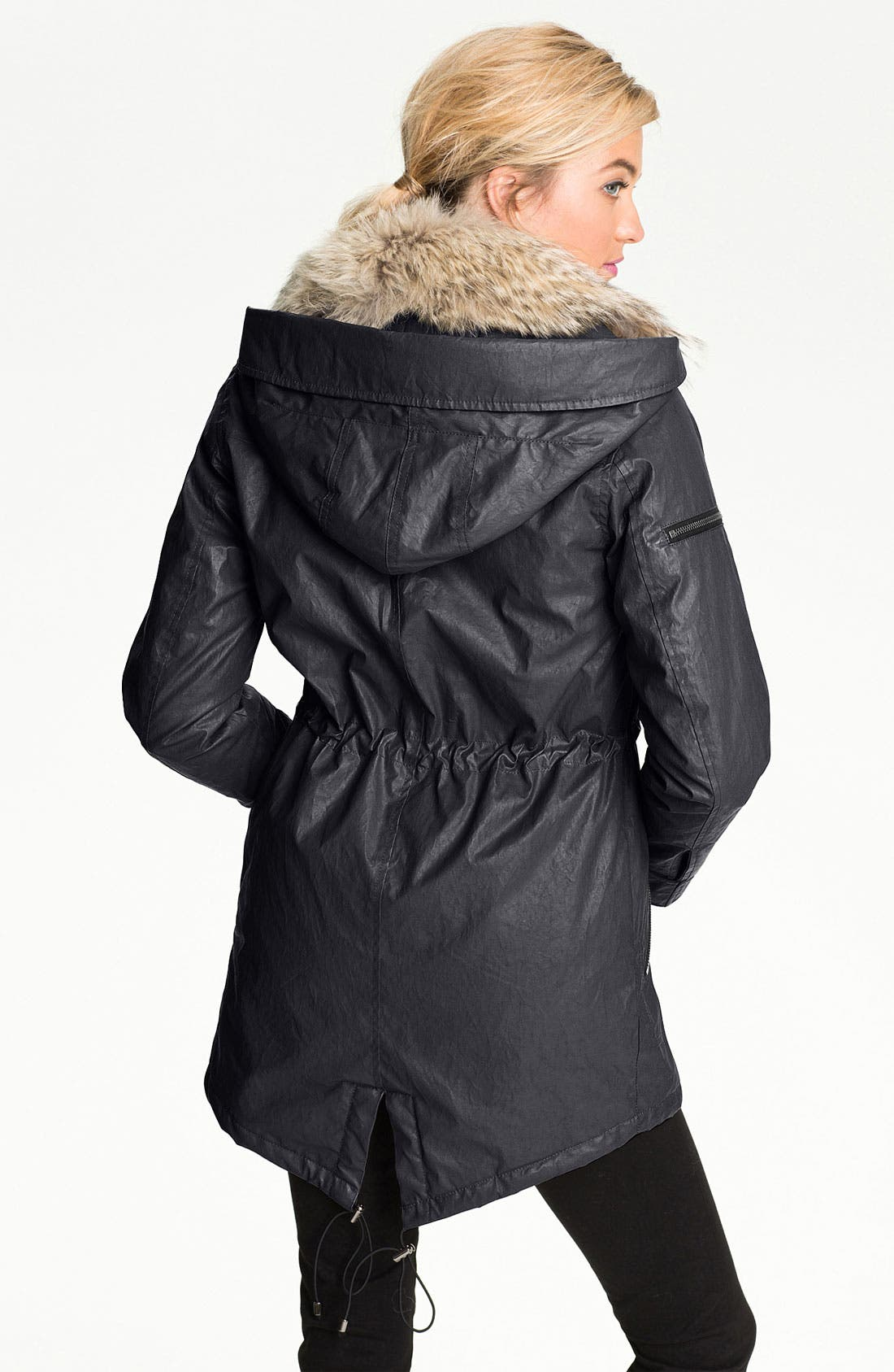 Alternate Image 2  - SAM Parka with Detachable Coyote Fur Collar