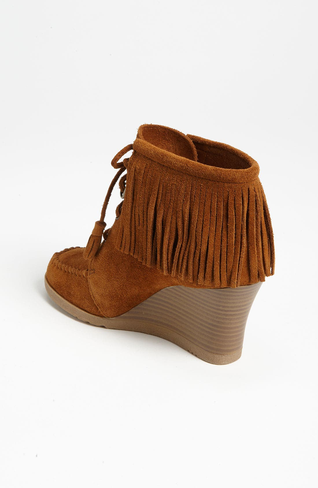 Alternate Image 2  - Minnetonka Lace-Up Fringe Ankle Boot