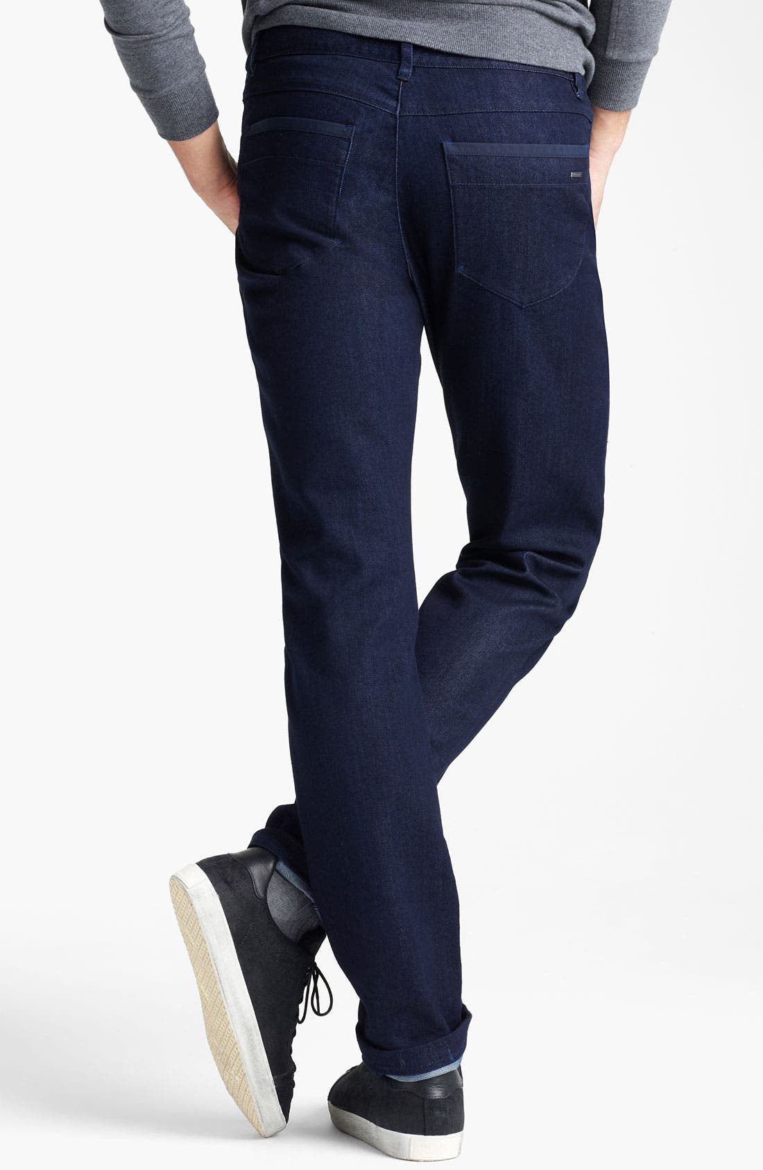 Alternate Image 2  - Zegna Sport 'Cool Max' Straight Leg Jeans (Dark Blue)