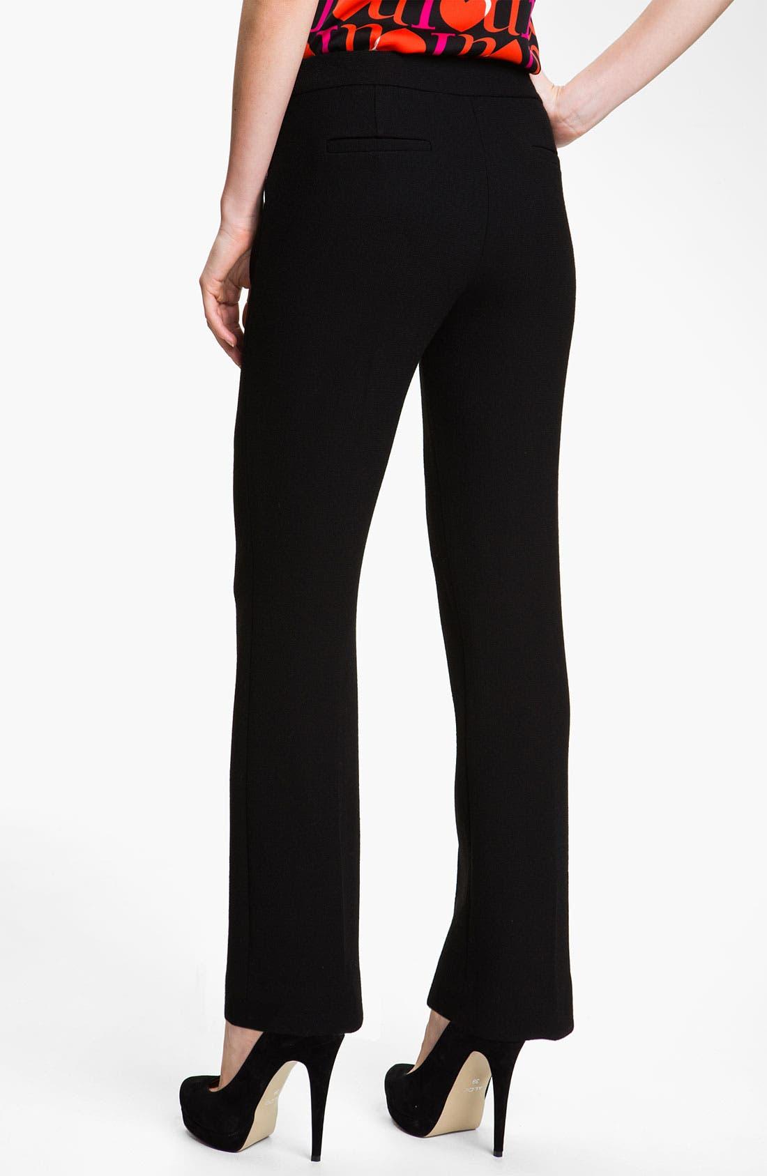 Alternate Image 2  - Milly Straight Leg Crepe Pants
