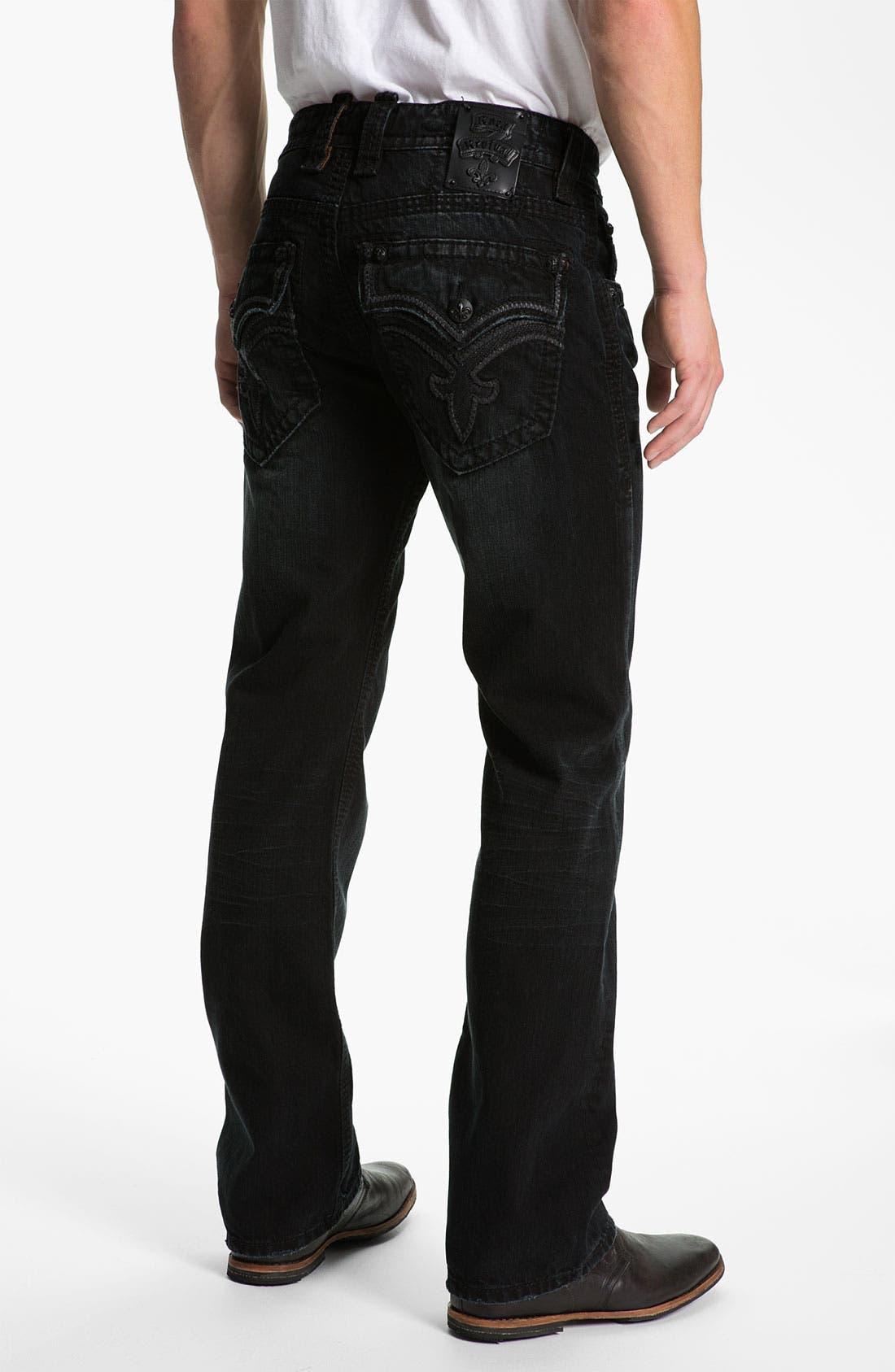 Alternate Image 1 Selected - Rock Revival 'Bob' Straight Leg Jeans (Black)