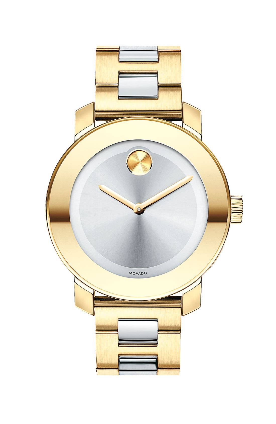 'Bold' Round Bracelet Watch, 36mm,                         Main,                         color, Gold/ Silver
