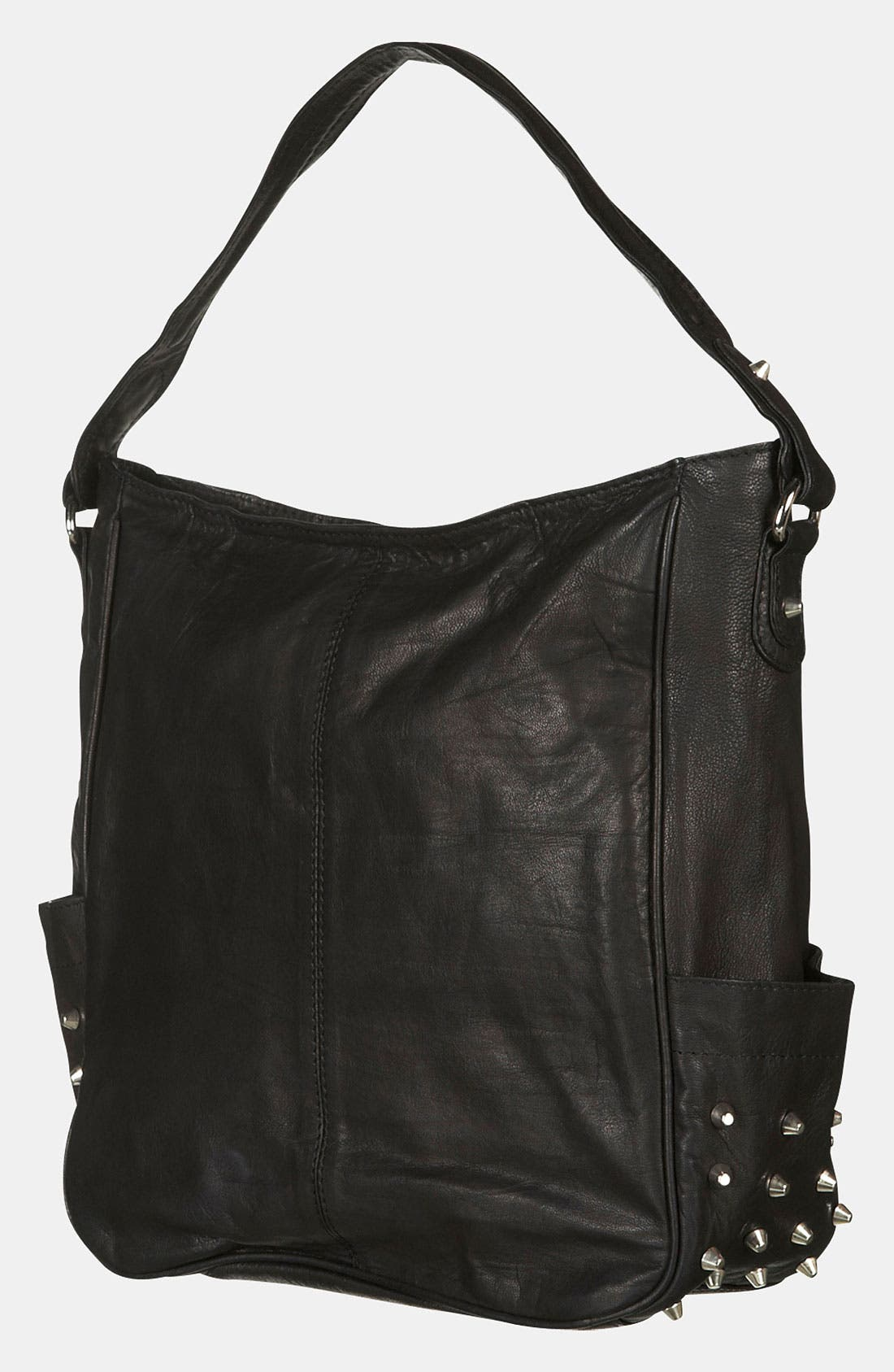 Alternate Image 1 Selected - Topshop Studded Leather Hobo