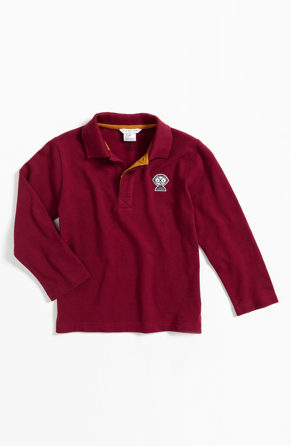 Alternate Image 1 Selected - LITTLE MARC JACOBS 'Mister Marc' Long Sleeve Polo (Little Boys)