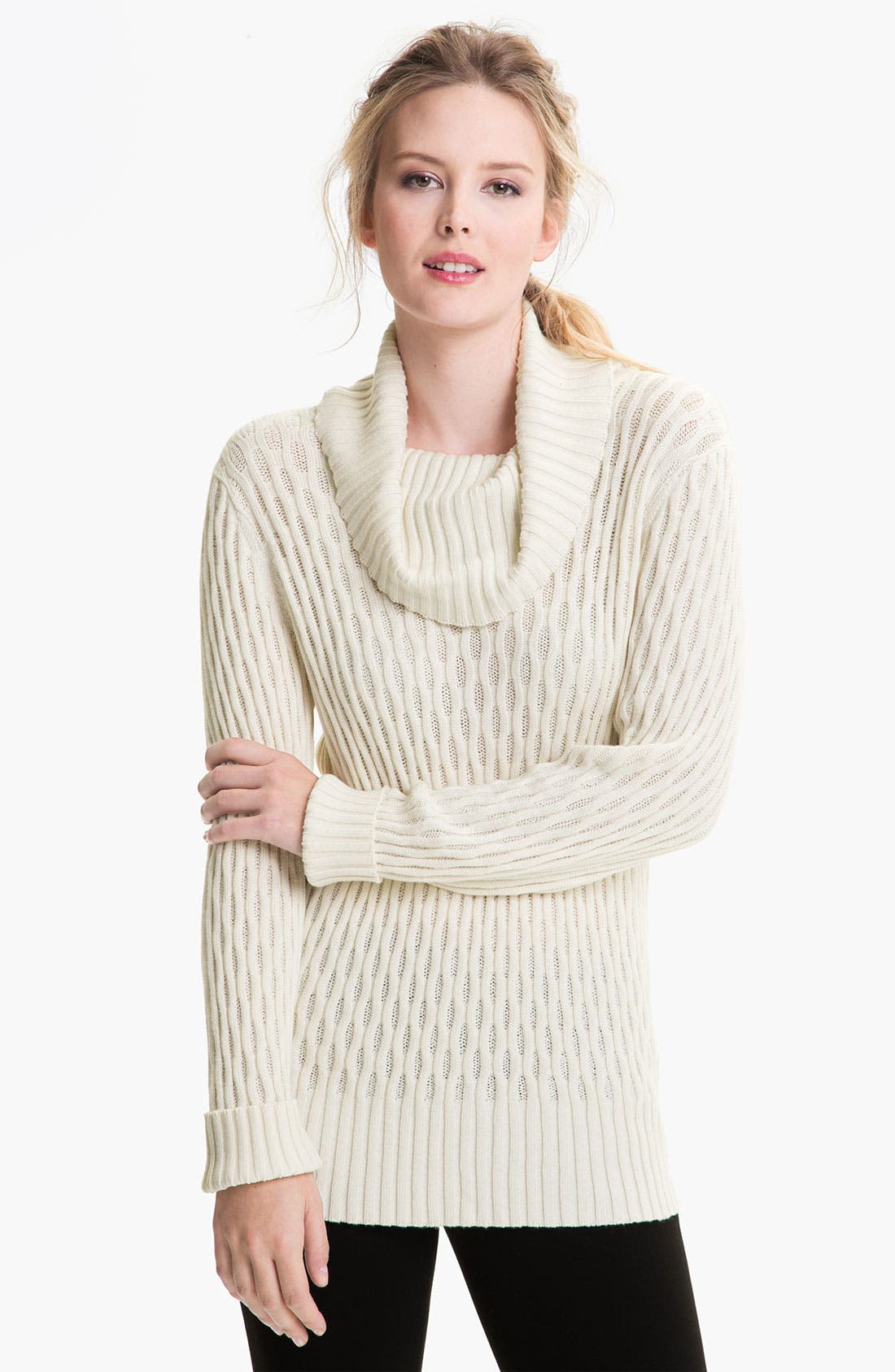 Alternate Image 1 Selected - Lafayette 148 New York Cowl Neck Sweater