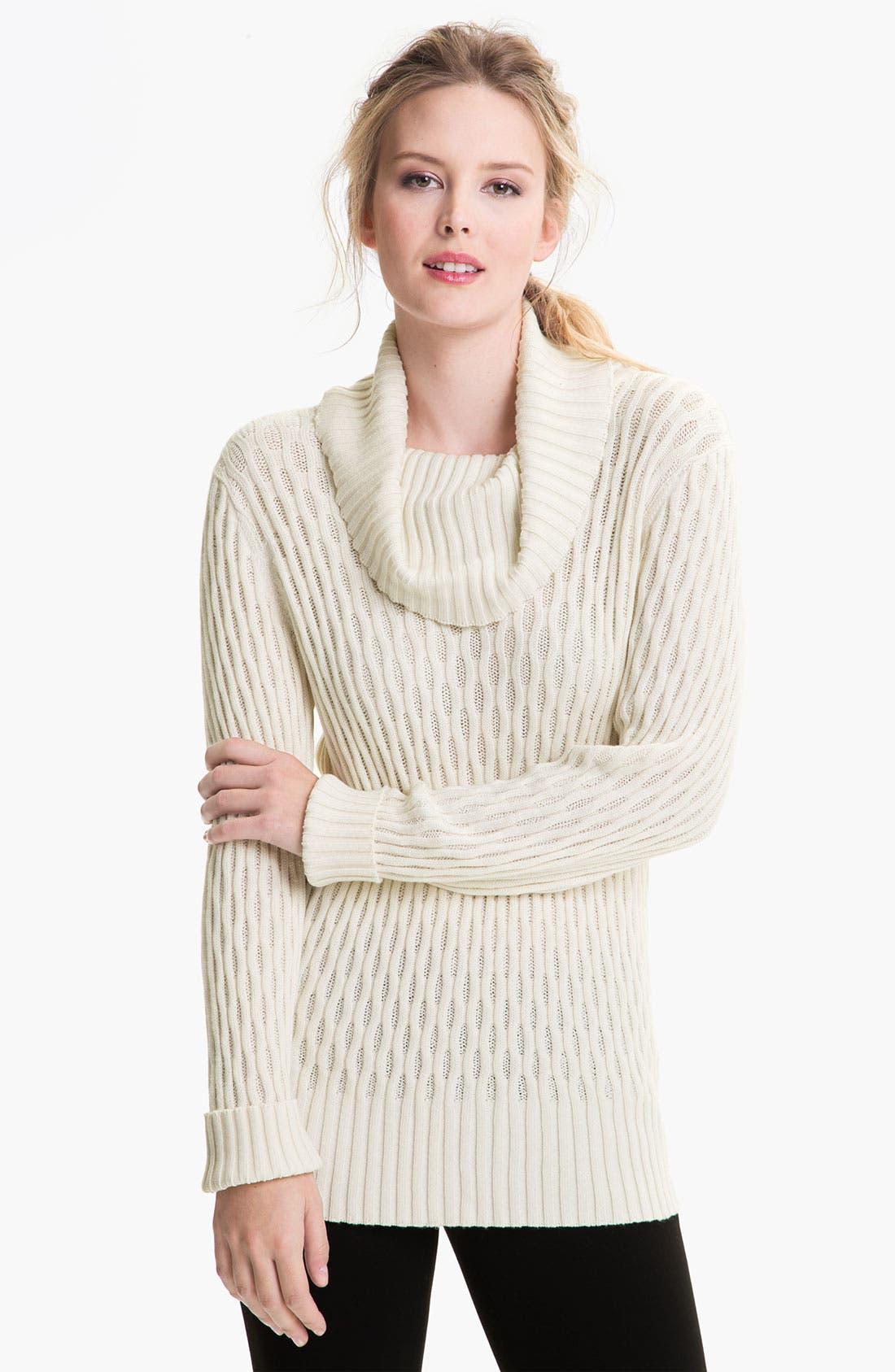 Main Image - Lafayette 148 New York Cowl Neck Sweater