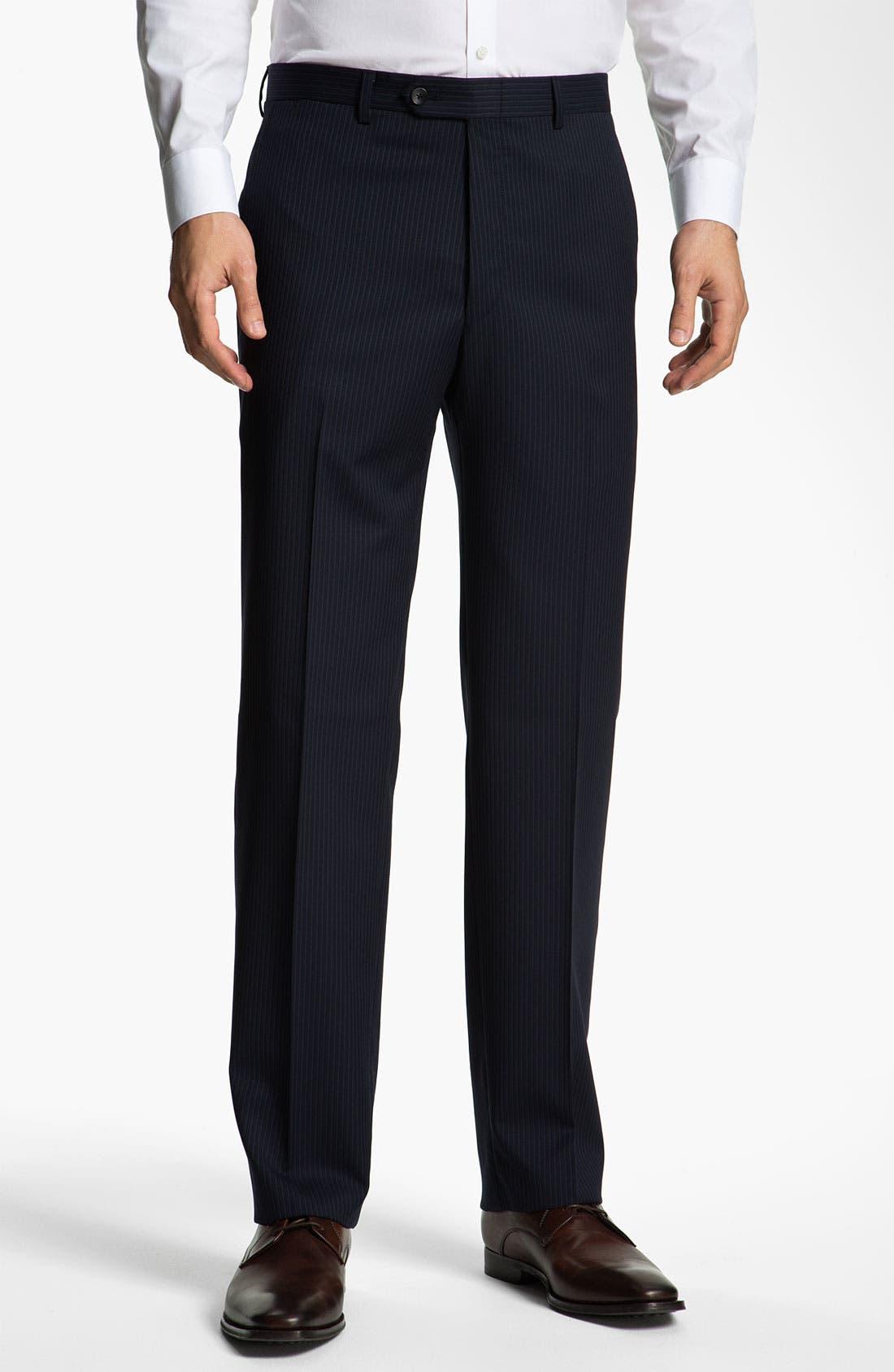 Alternate Image 4  - Hart Schaffner Marx Stripe Three Piece Wool Suit