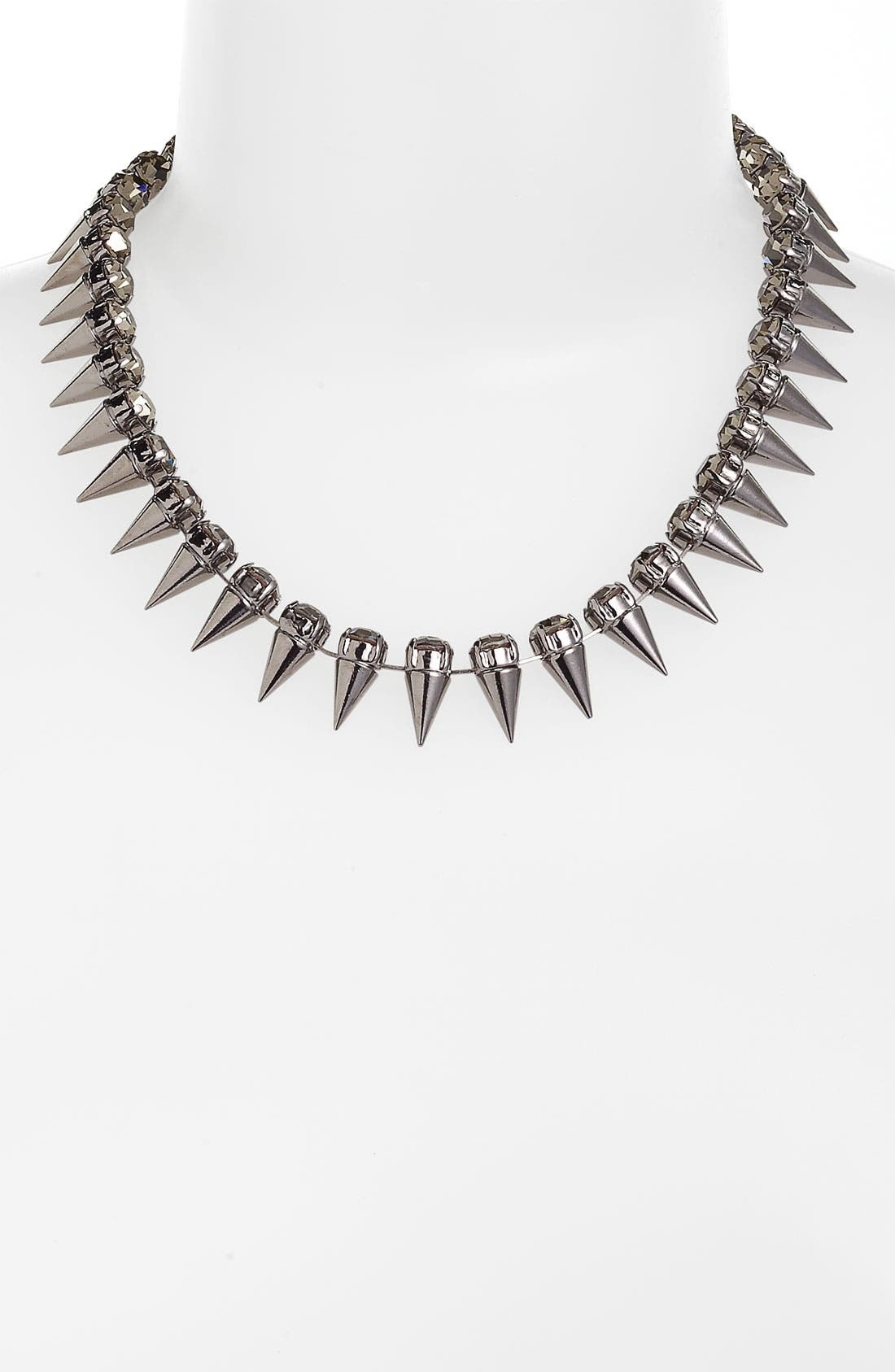 Main Image - Cara Spike & Crystal Collar Necklace
