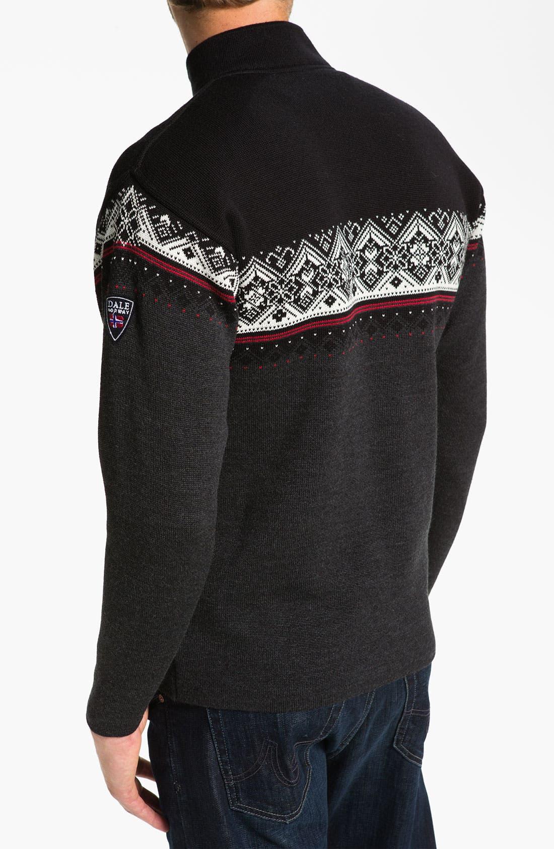 Alternate Image 2  - Dale of Norway 'St Moritz' Quarter Zip Merino Wool Sweater