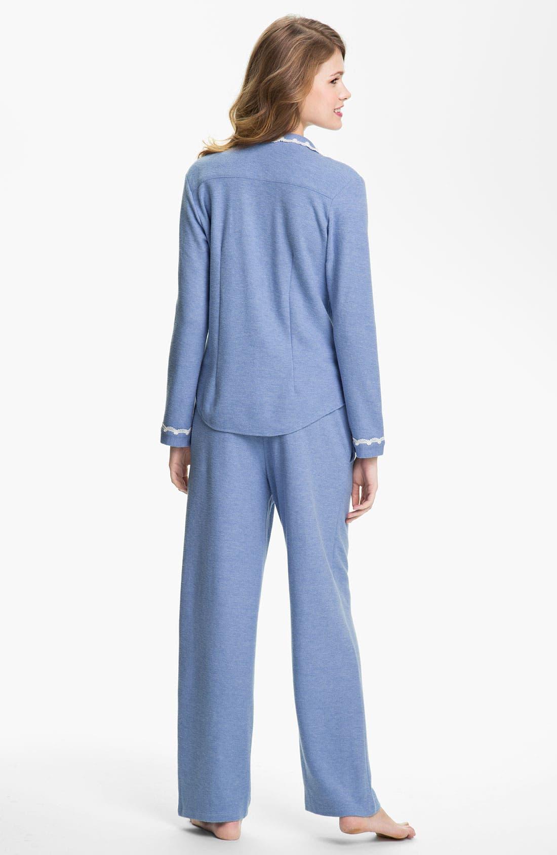 Alternate Image 2  - Eileen West 'Evening Star' Thermal Pajamas