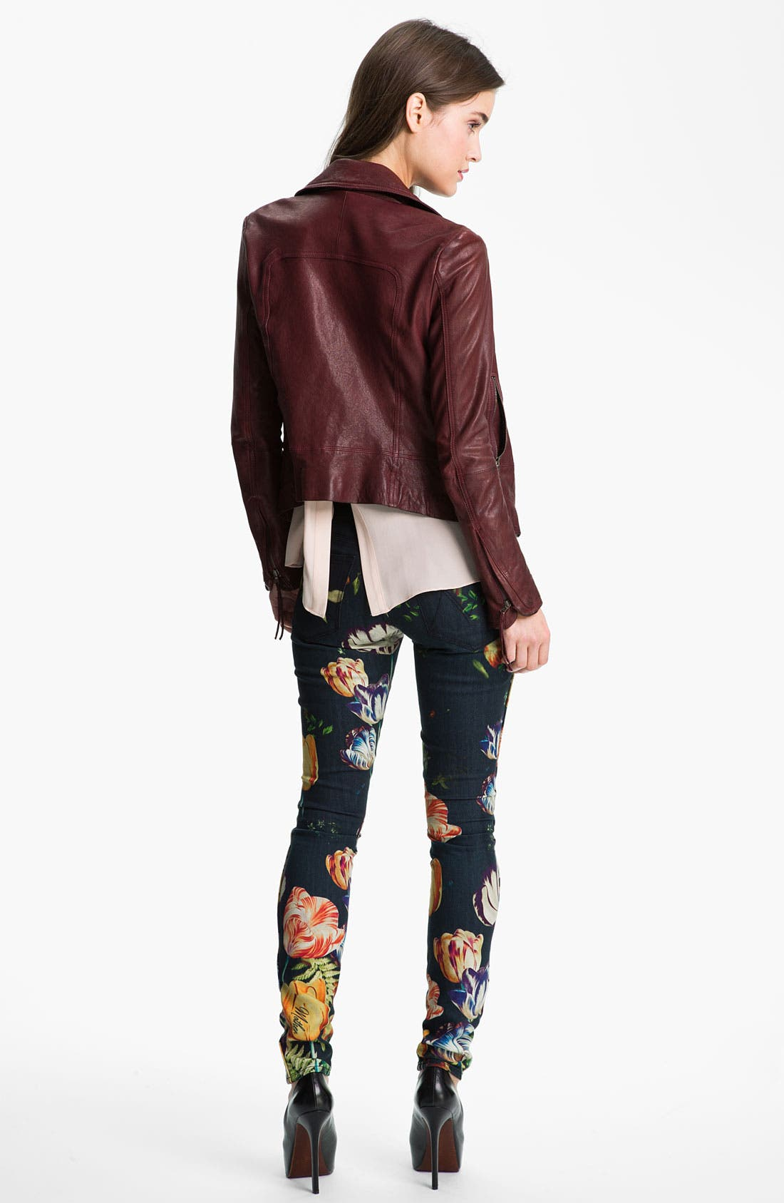 Alternate Image 5  - MOTHER 'The Looker' Print Skinny Jeans (Kissed Me Floral)