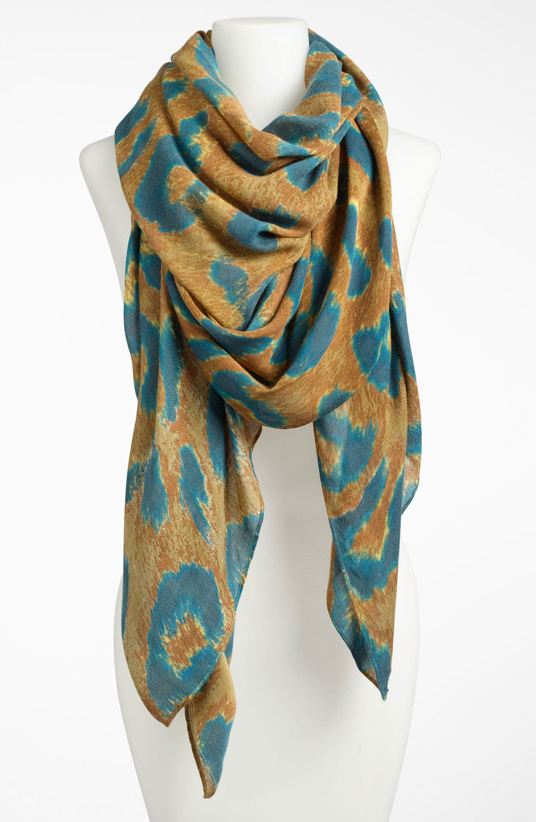 Alternate Image 1 Selected - Theodora and Callum 'Wearable Art - Abstract Leopard' Scarf