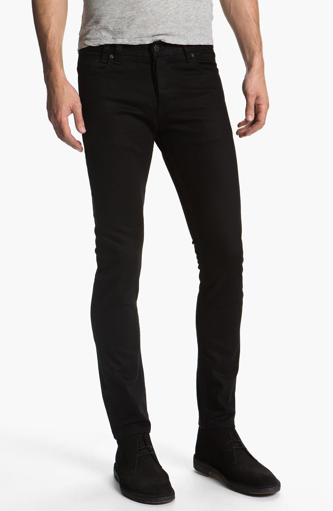Alternate Image 2  - Insight 'City Riot' Slim Straight Leg Jeans (Double Black Rinse)