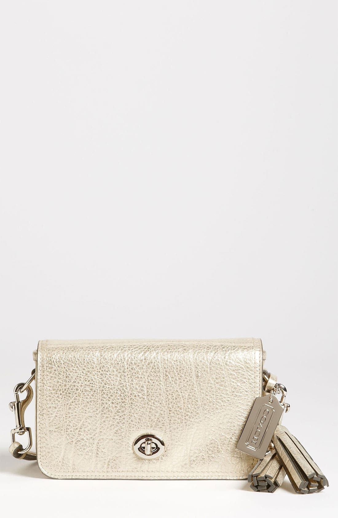 Alternate Image 1 Selected - COACH 'Legacy - Penny' Metallic Leather Crossbody Bag