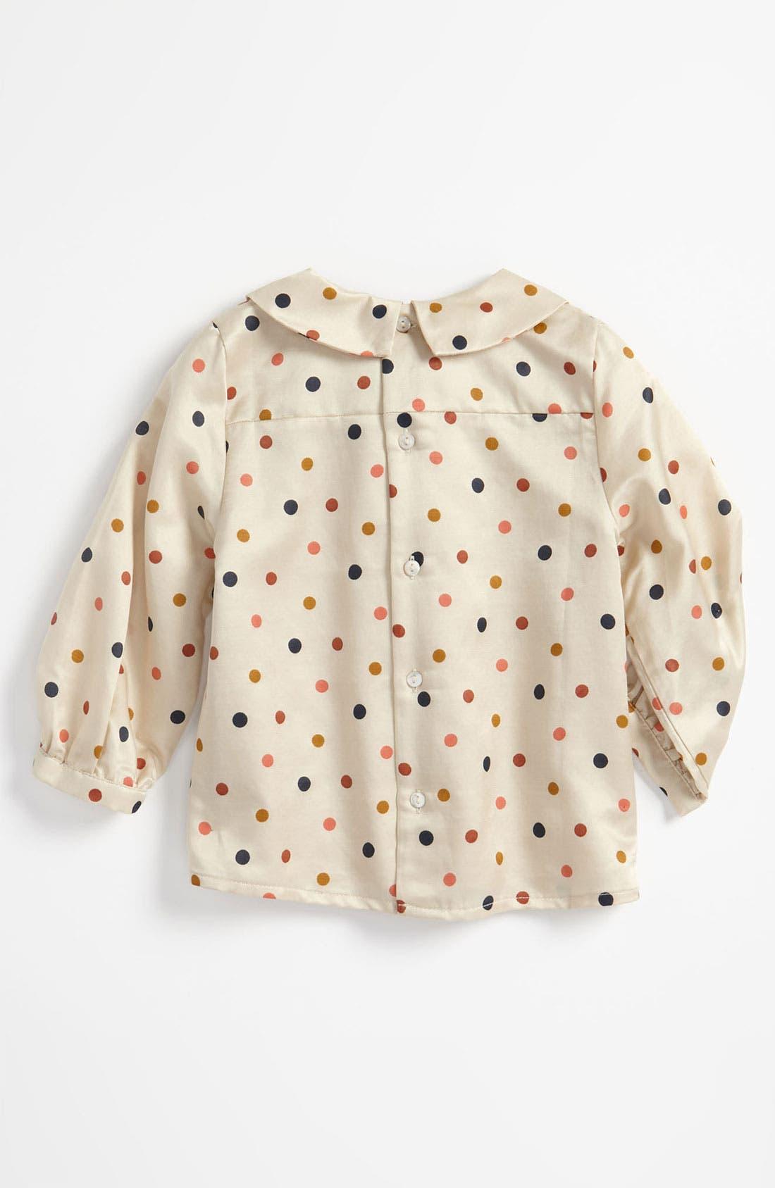 Alternate Image 2  - Chloé Polka Dot Blouse (Infant)