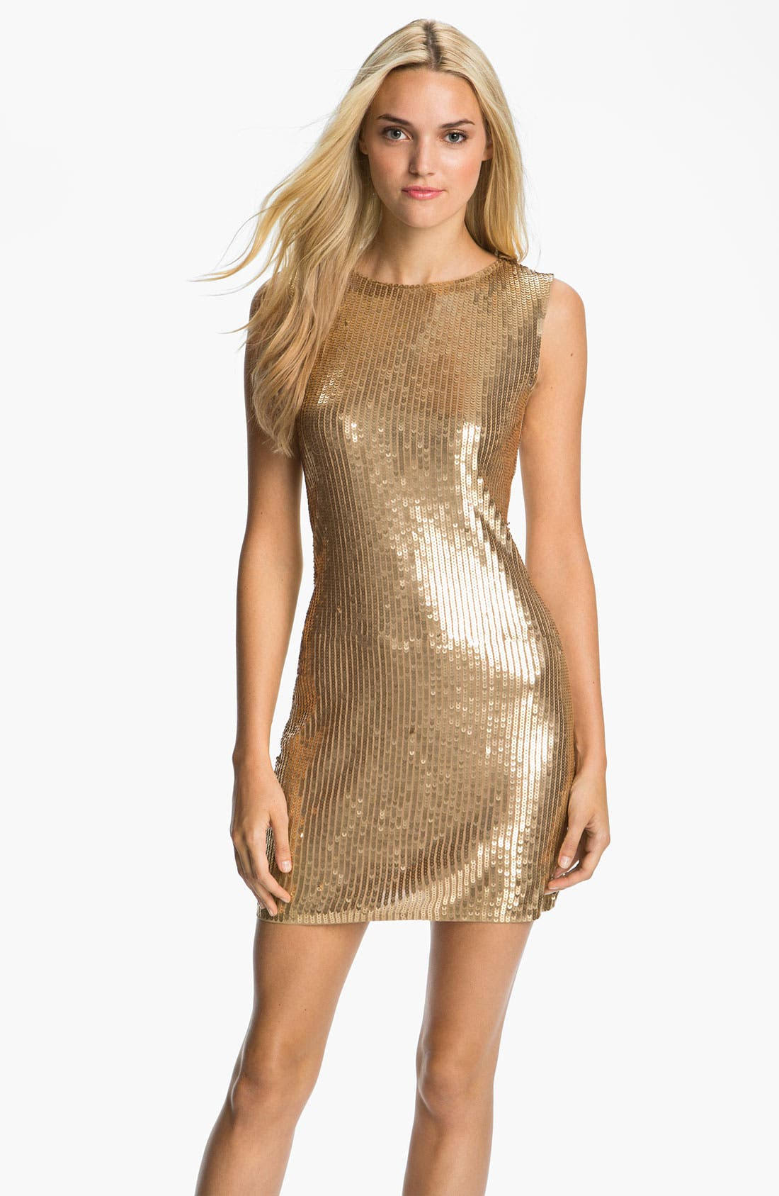 Alternate Image 1 Selected - MICHAEL Michael Kors Sleeveless Sequin Dress