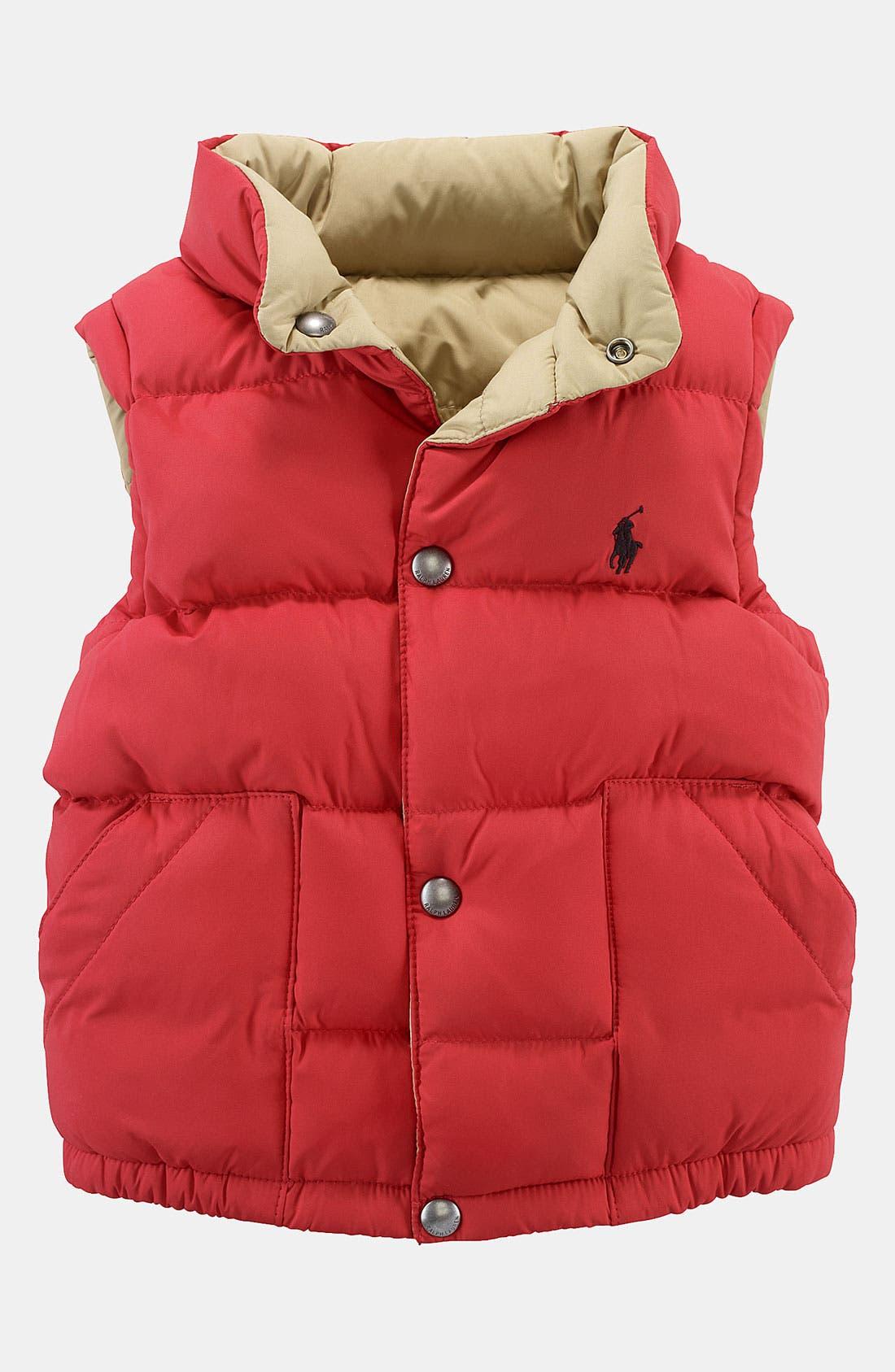 Main Image - Ralph Lauren Reversible Puffer Vest (Toddler)