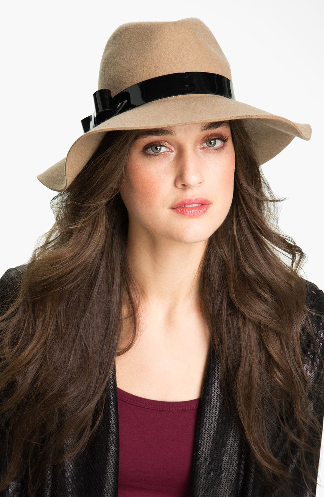 Alternate Image 1 Selected - kate spade new york asymmetrical bow felt hat