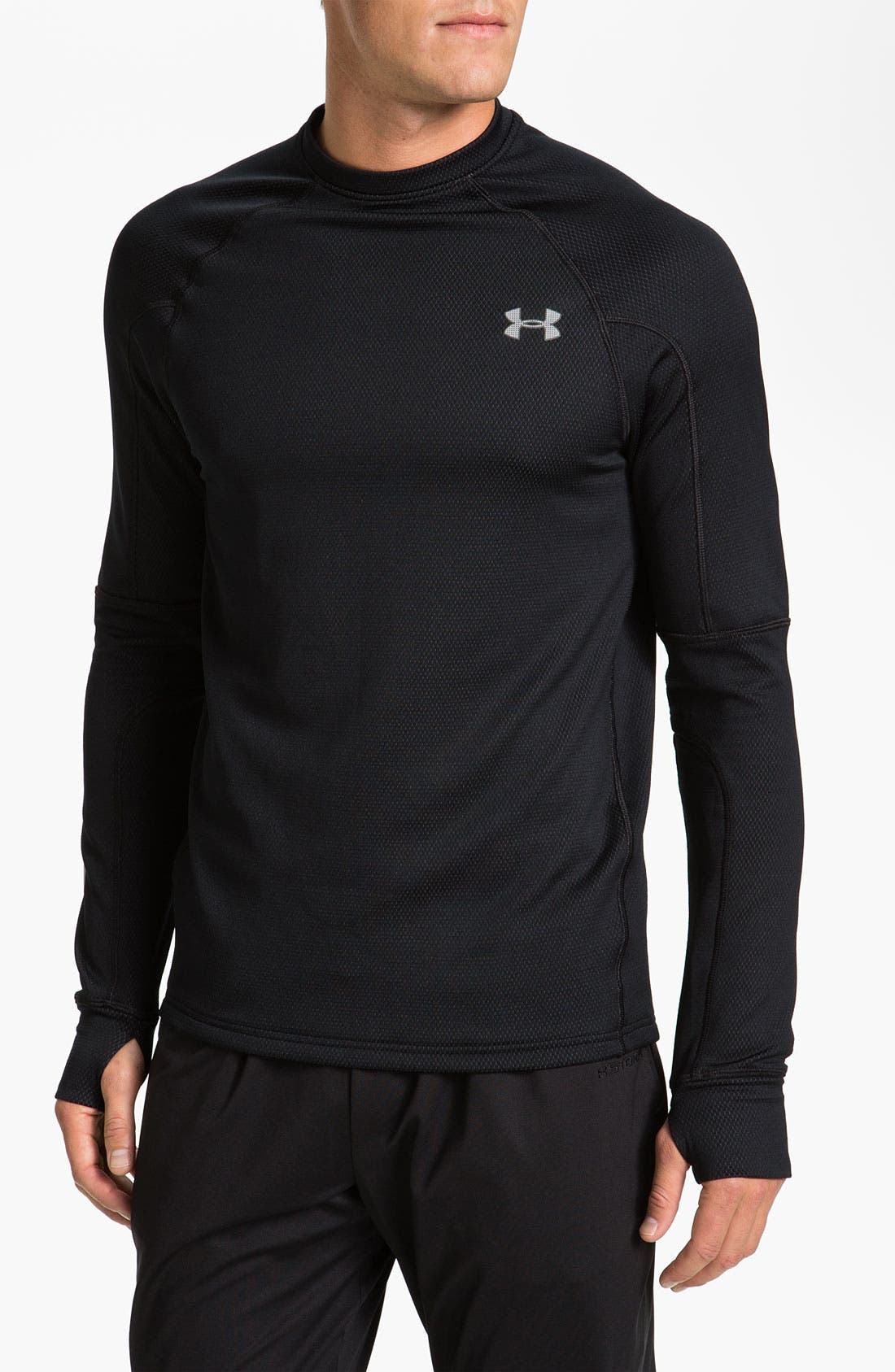 Main Image - Under Armour 'Thermo Run' Fitted Long Sleeve ColdGear® T-Shirt (Online Exclusive)