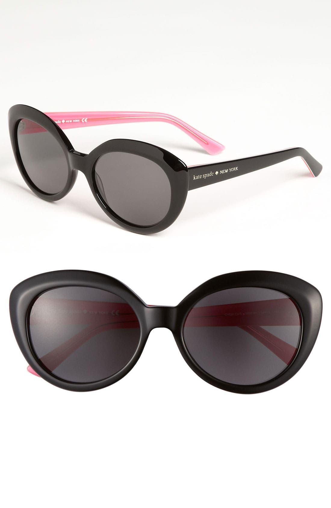 Main Image - kate spade new york cat's eye sunglasses